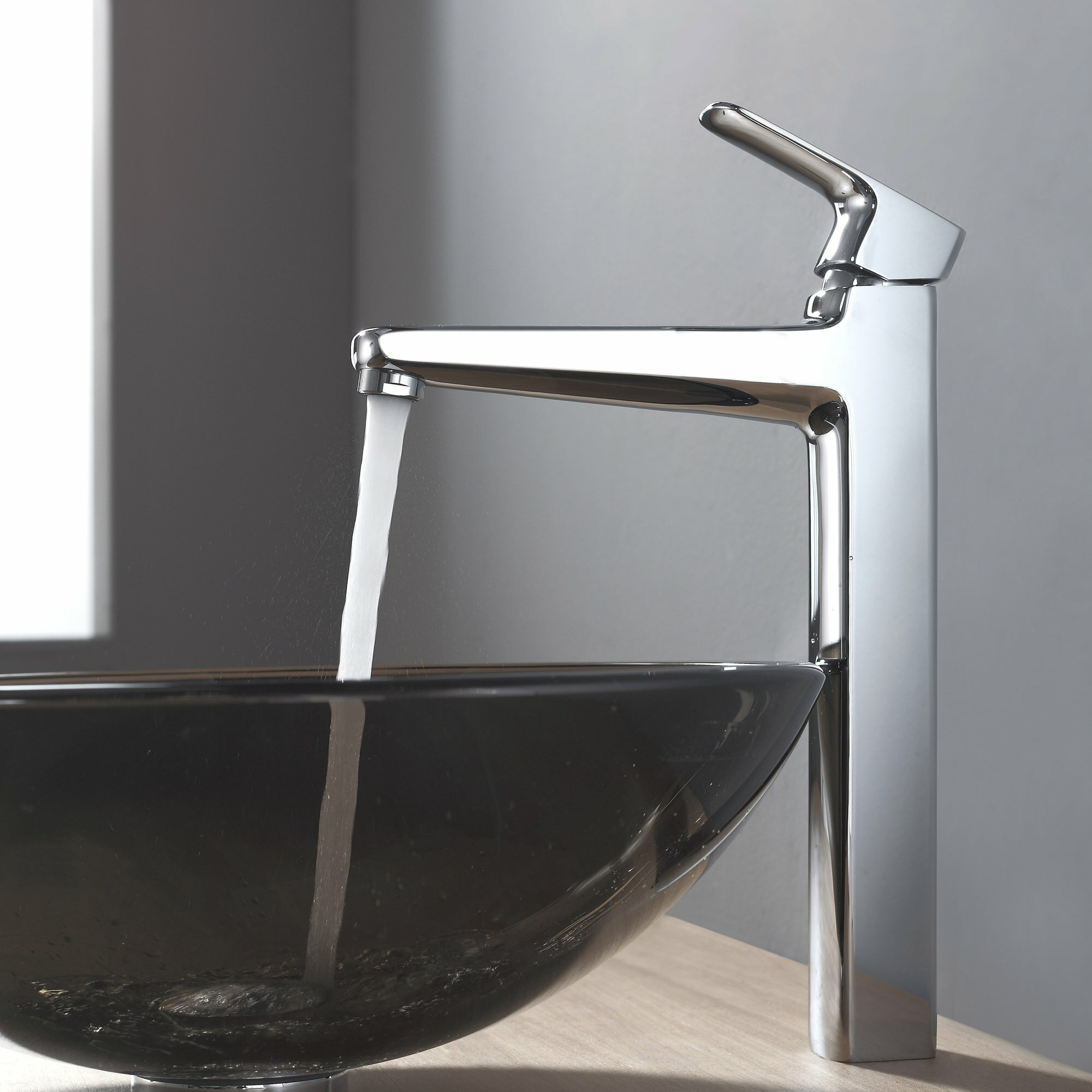 Kraus Brown Glass Vessel Sink and Virtus Faucet & Reviews Wayfair