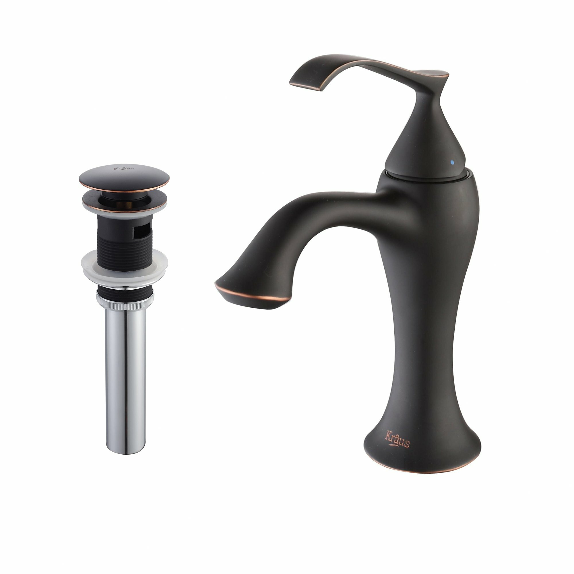 Kraus Faucets Reviews : Kraus Ventus Single Lever Basin Bathroom Faucet & Pop Up Drain with ...
