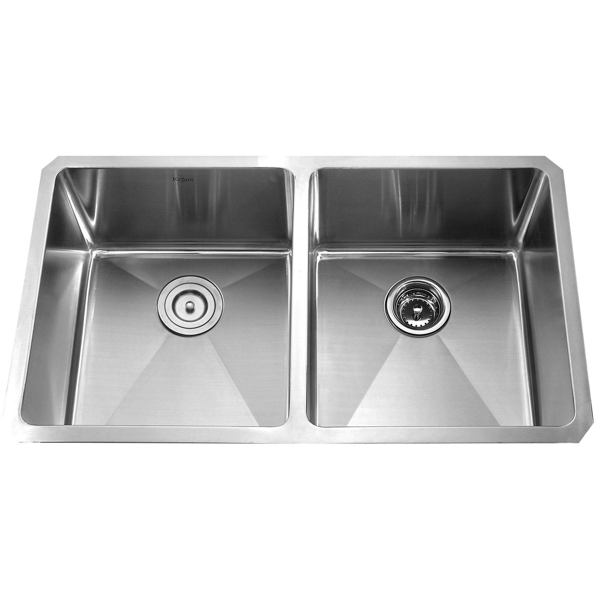 Kraus X 19 Undermount 50 50 Double Bowl Kitchen