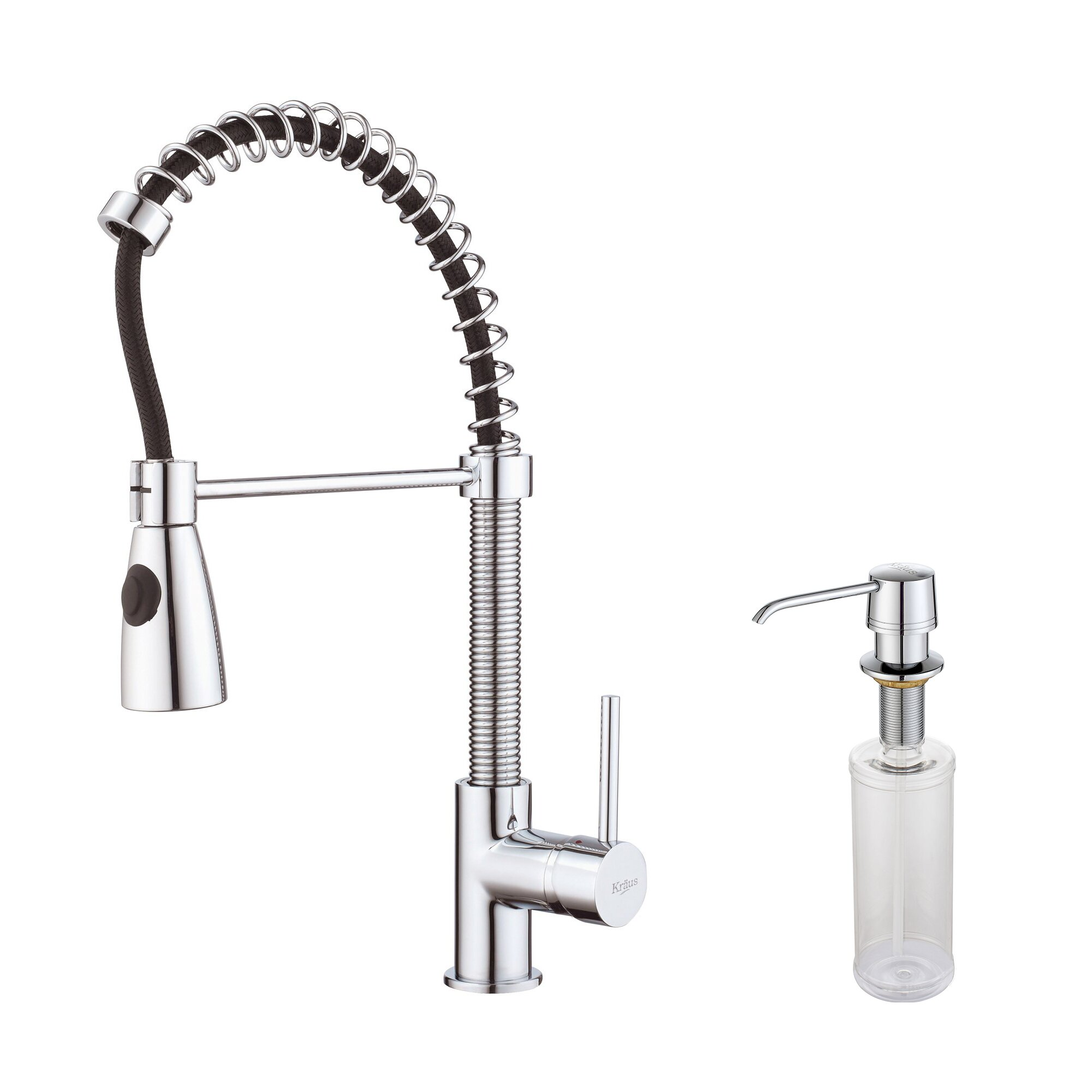 Kraus One Handle Single Hole Kitchen Faucet With Soap