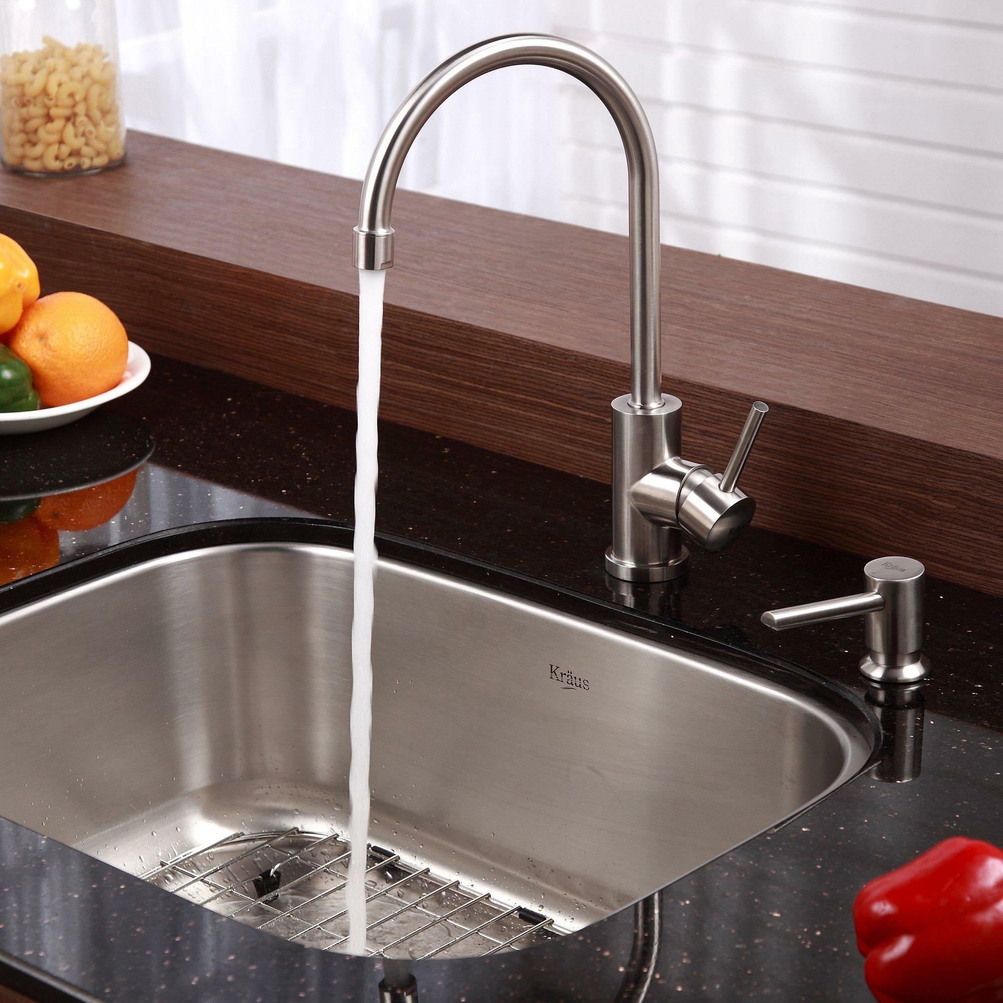 Kraus 23 Undermount Sink : Kraus Stainless Steel 23