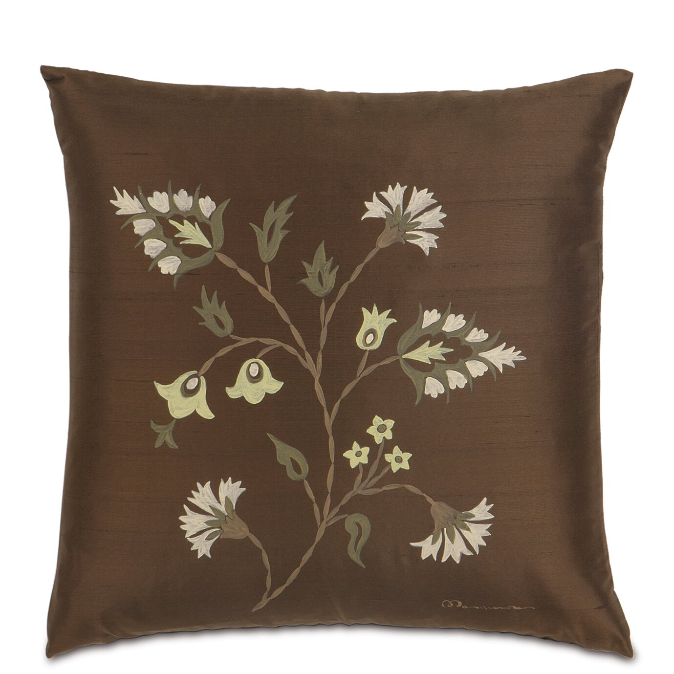 Eastern accents michon hand painted serico silk throw for Hand painted pillows