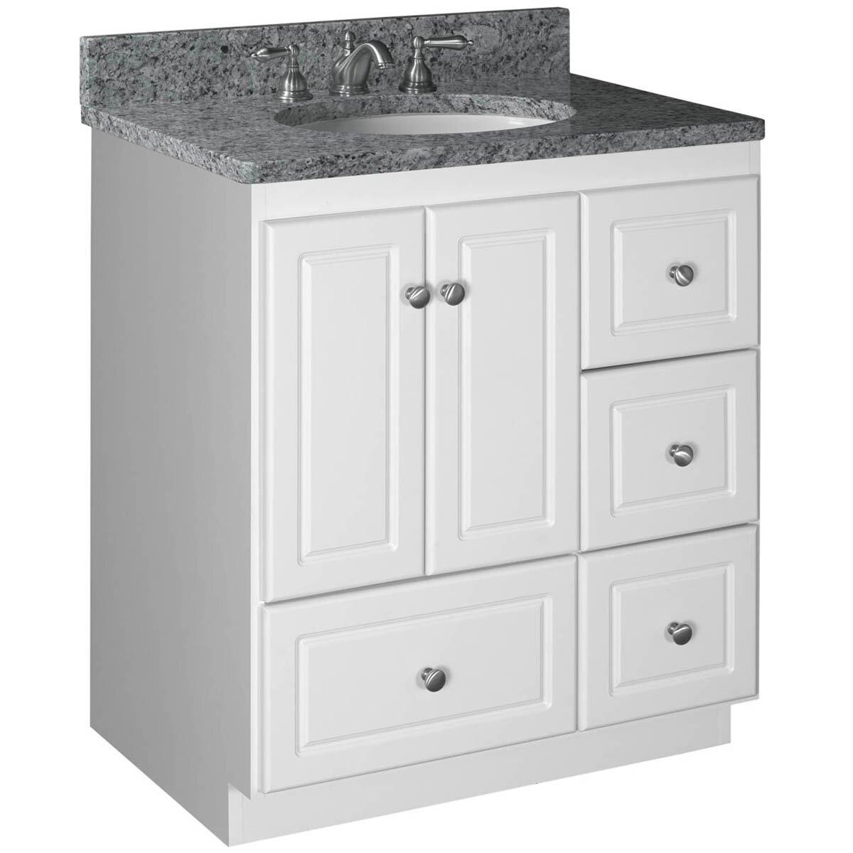 Strasser woodenworks simplicity 30 bathroom vanity base for Bathroom cabinets 30