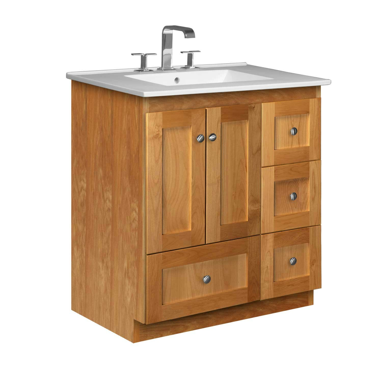 Strasser woodenworks simplicity 31 single bathroom vanity for Bathroom vanity sets for sale