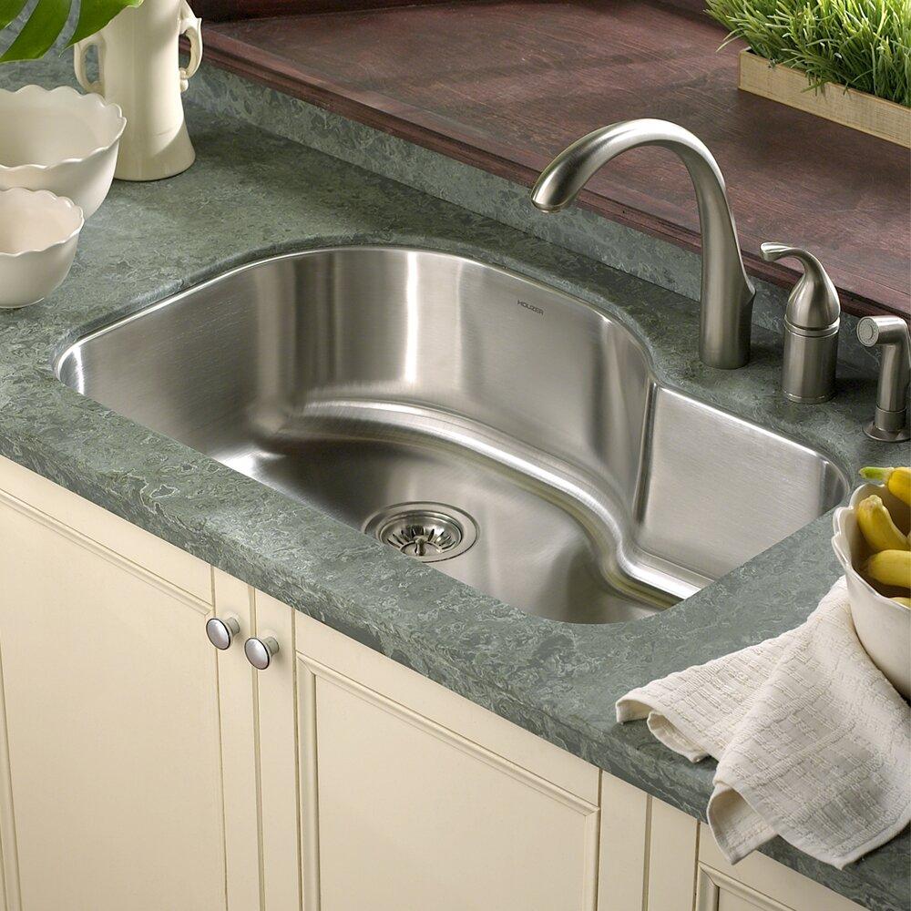 Houzer medallion designer 31 5 x 21 undermount - Trendy kitchen sinks ...