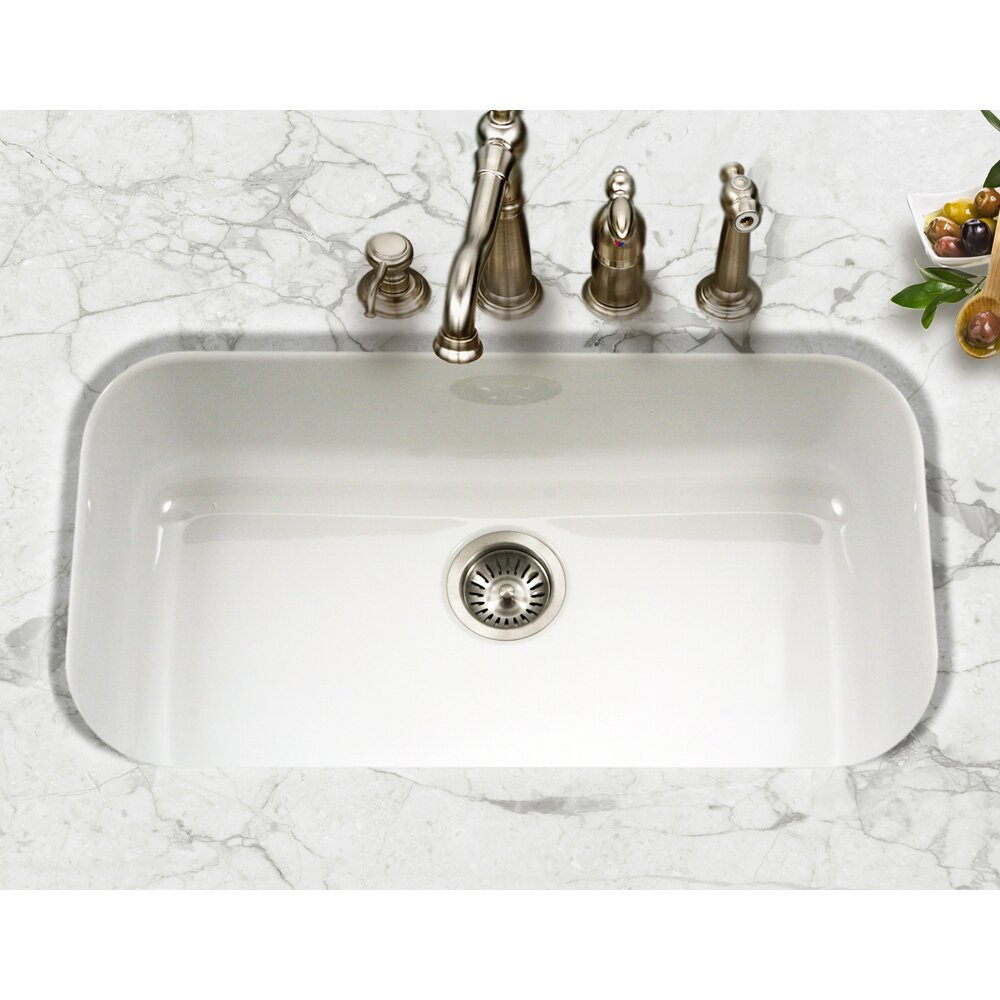 White Porcelain Kitchen Sink For Sale