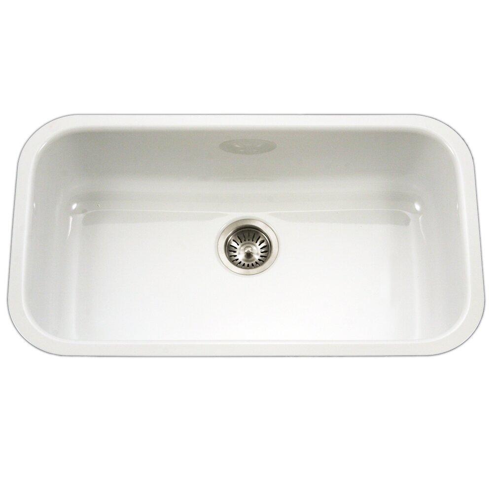 Houzer porcela 30 9 x porcelain enamel steel for Porcelain on steel bathtub review