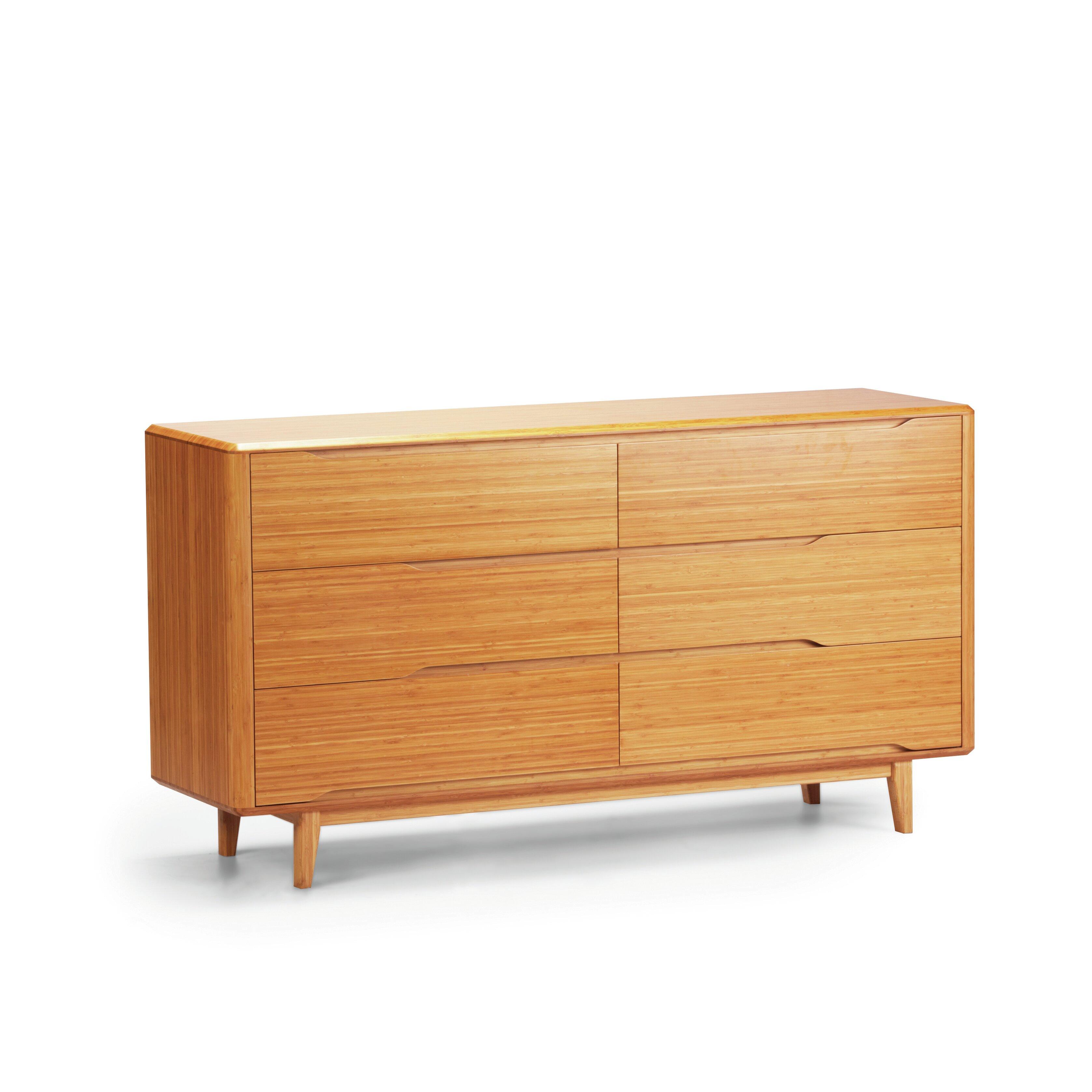 Greenington Currant 6 Drawer Bamboo Dresser Wayfair