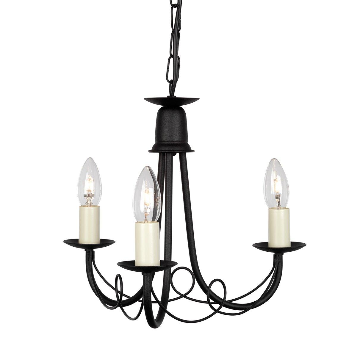 elstead lighting kronleuchter 3 flammig minster. Black Bedroom Furniture Sets. Home Design Ideas