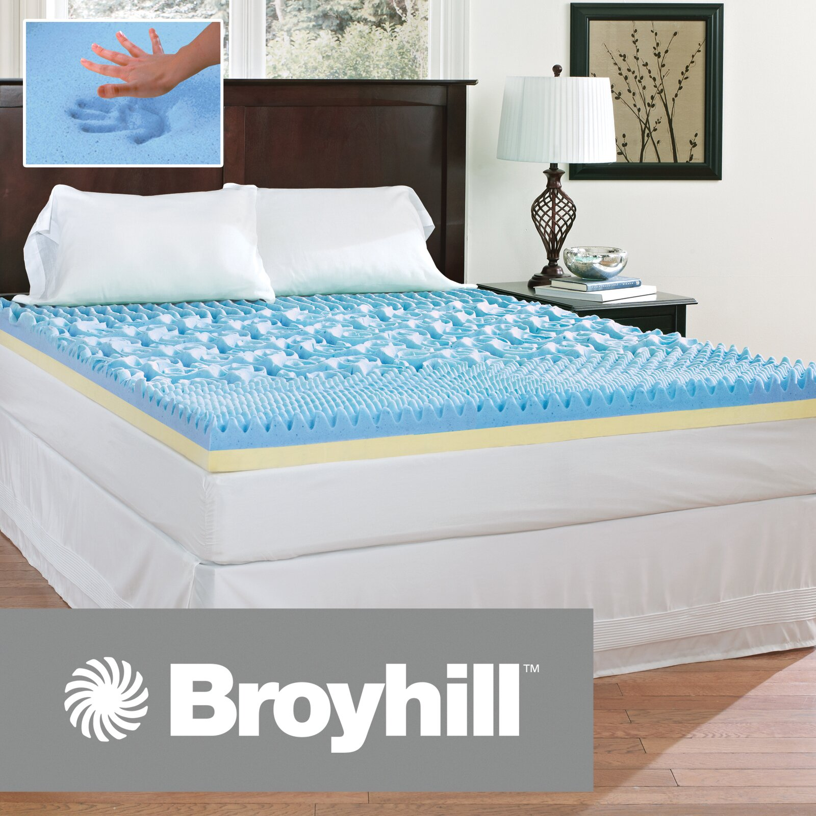 Broyhill174 4quot Gel Topper amp Reviews Wayfair : Broyhill2525C22525AE 4 Gel Topper IMTOPB401 from www.wayfair.com size 1600 x 1600 jpeg 533kB
