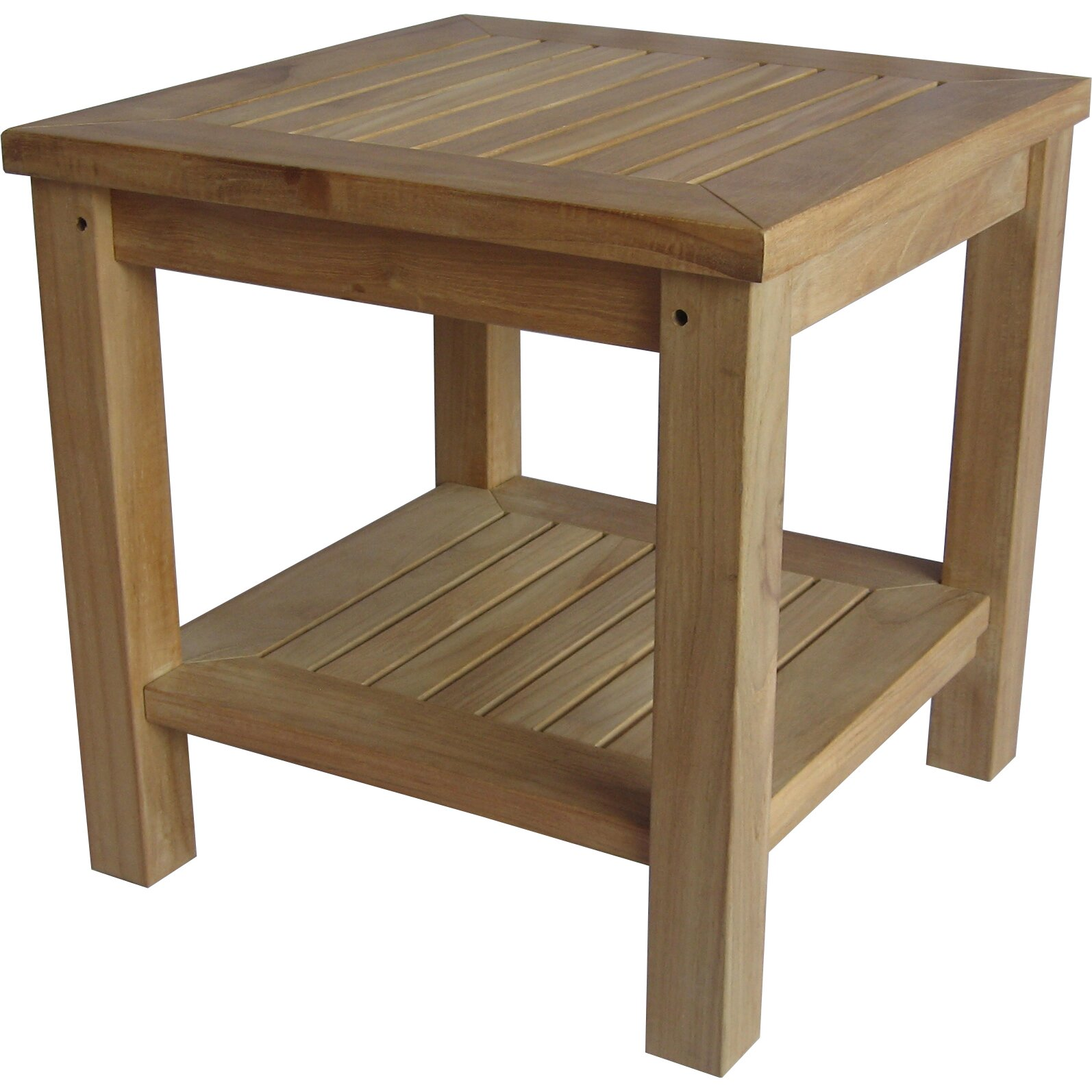 Arbora teak bristol teak side table reviews wayfair for Outdoor teak side table