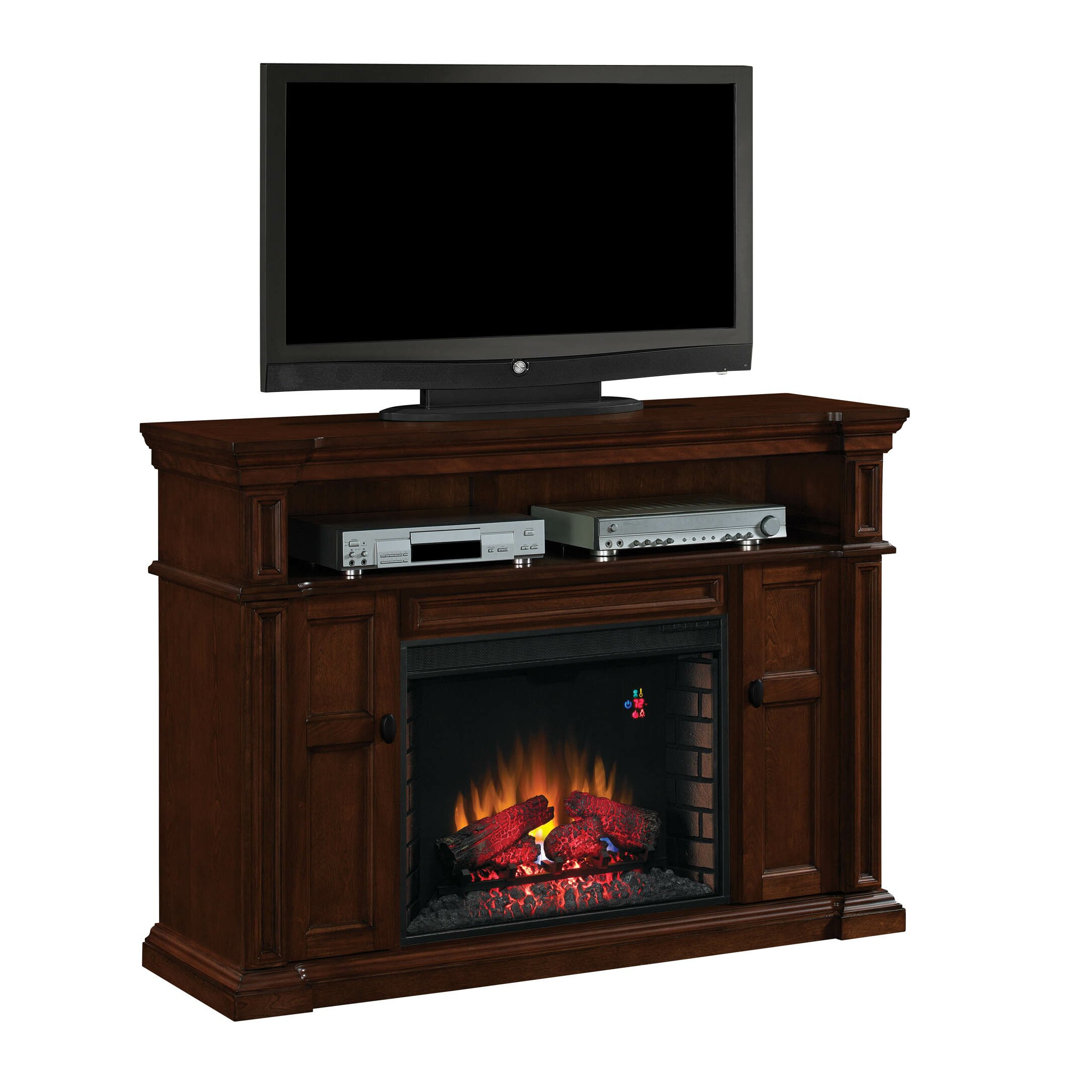 Classic Flame Wyatt Tv Stand With Infared Electric Fireplace Reviews Wayfair