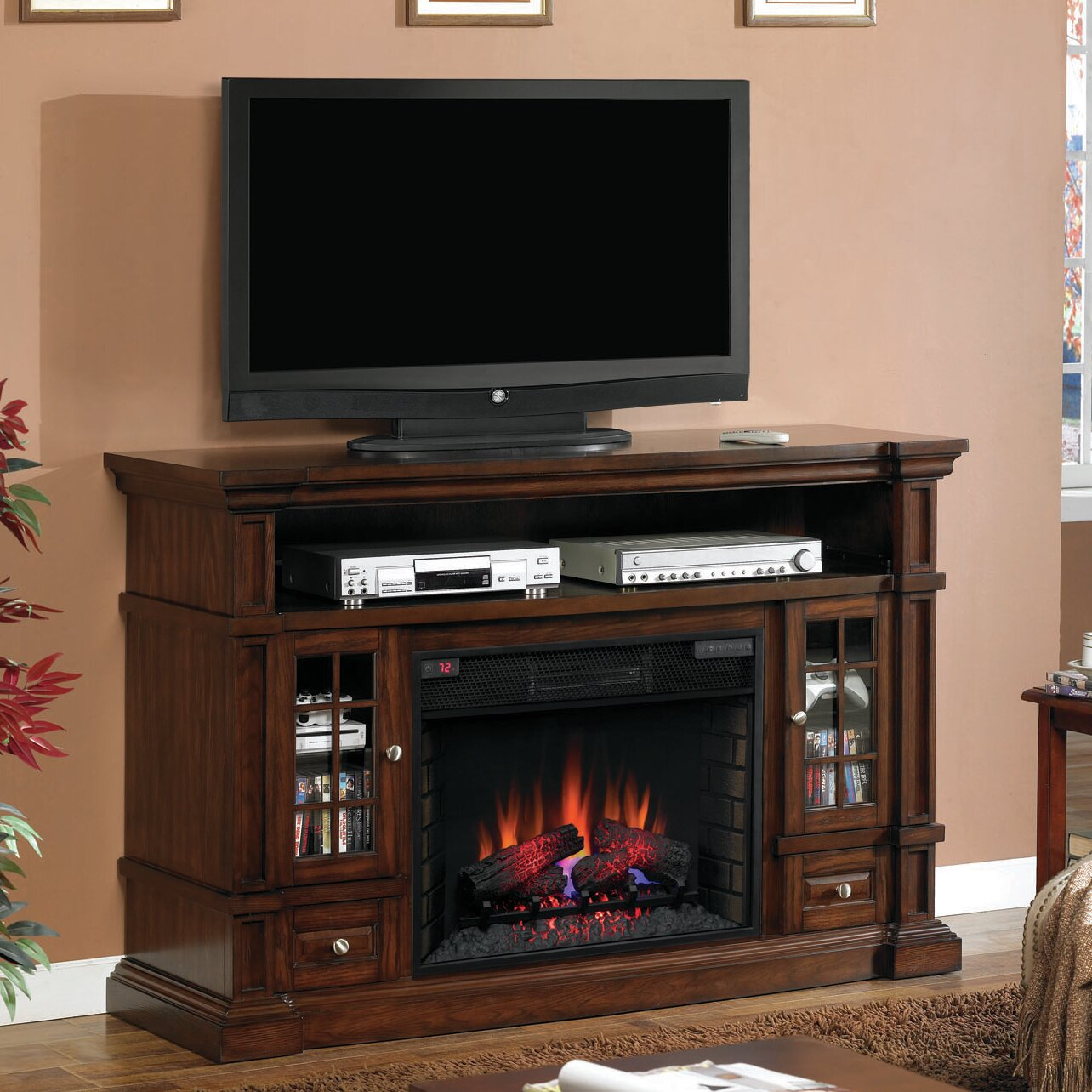 Classic Flame Belmont Tv Stand Electric Fireplace Reviews Wayfair