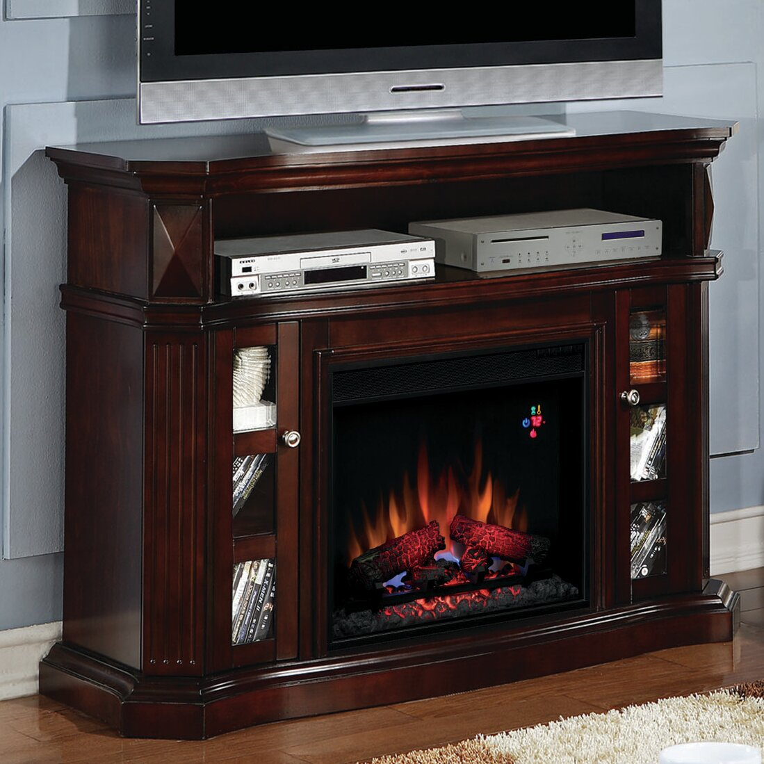 Classic Flame Bellemeade TV Stand with Electric Fireplace - Classic Flame Bellemeade TV Stand With Electric Fireplace