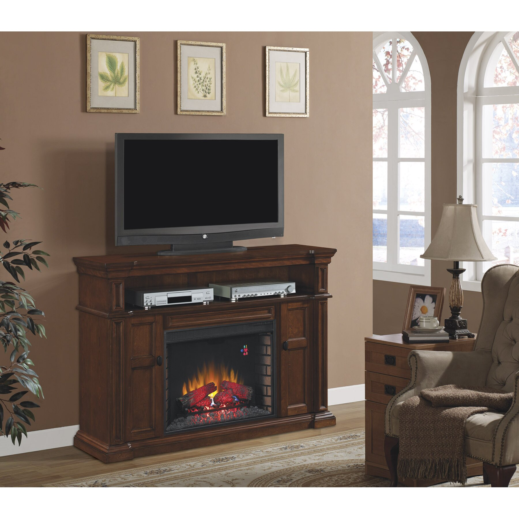 Classic Flame Wyatt Tv Stand With Infared Electric Fireplace Reviews Wayfair Supply