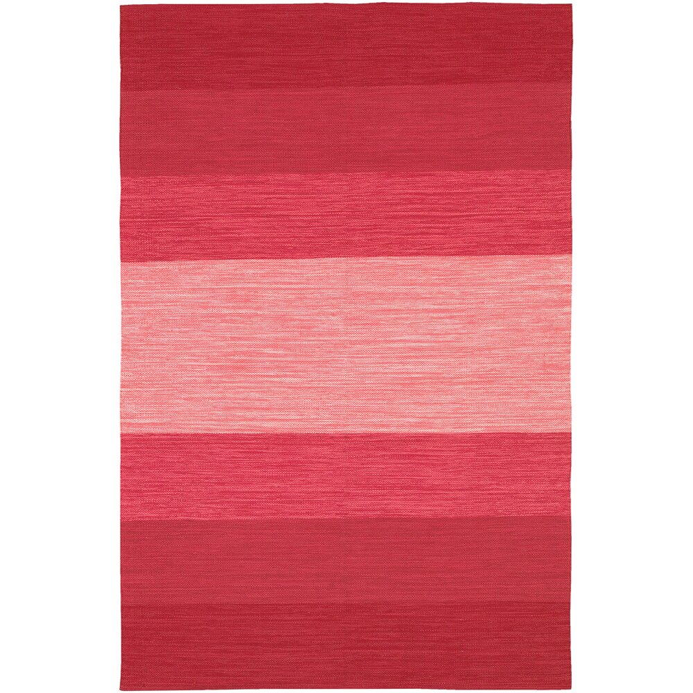 Chandra india red striped area rug reviews wayfair for Red and white striped area rug