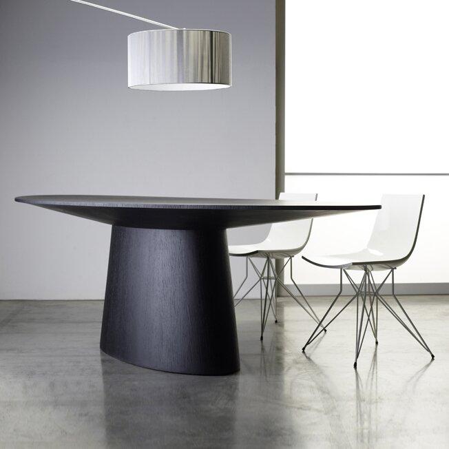 modloft sullivan oval dining table reviews wayfair. Black Bedroom Furniture Sets. Home Design Ideas