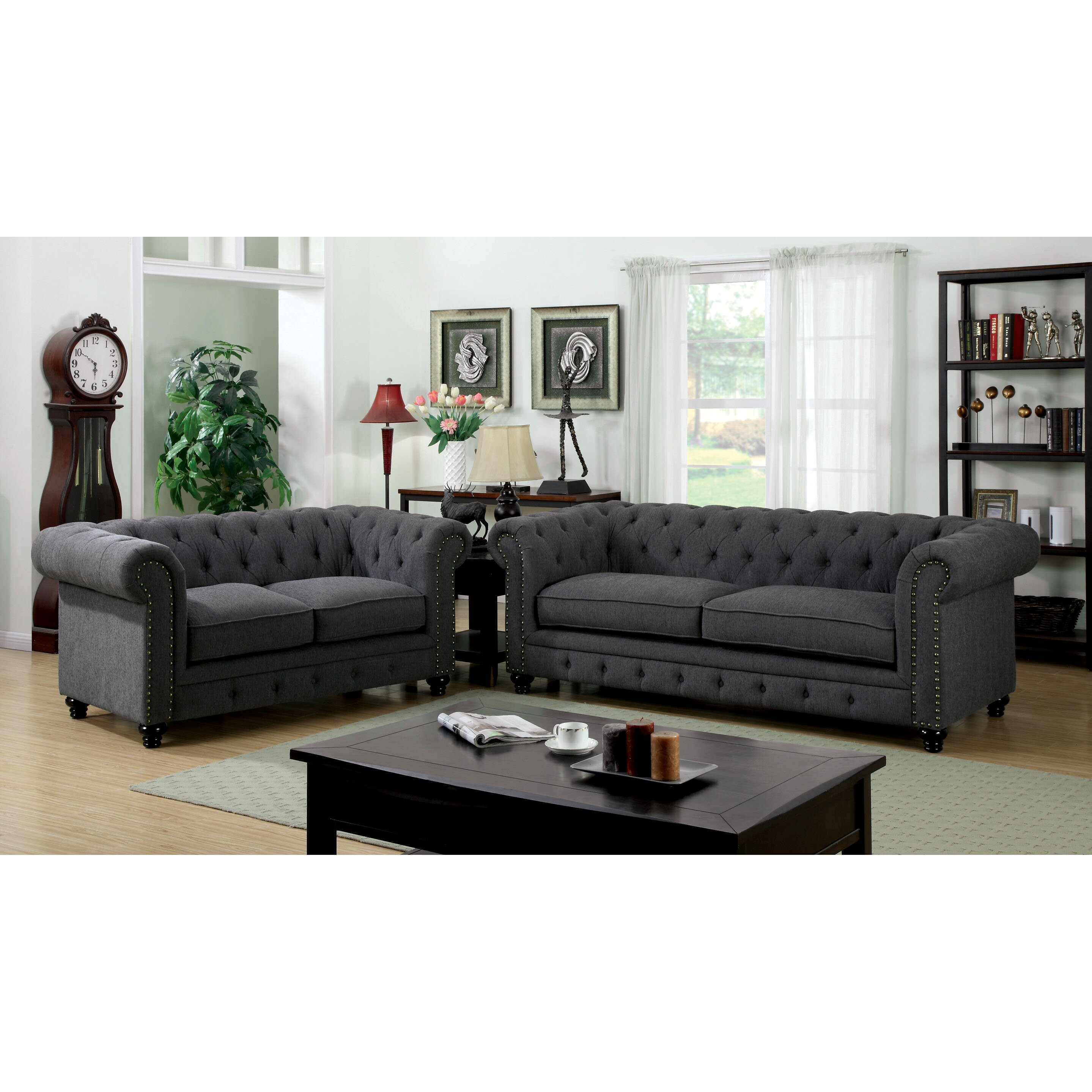 Hokku Designs Cedric Living Room Collection Reviews Wayfair