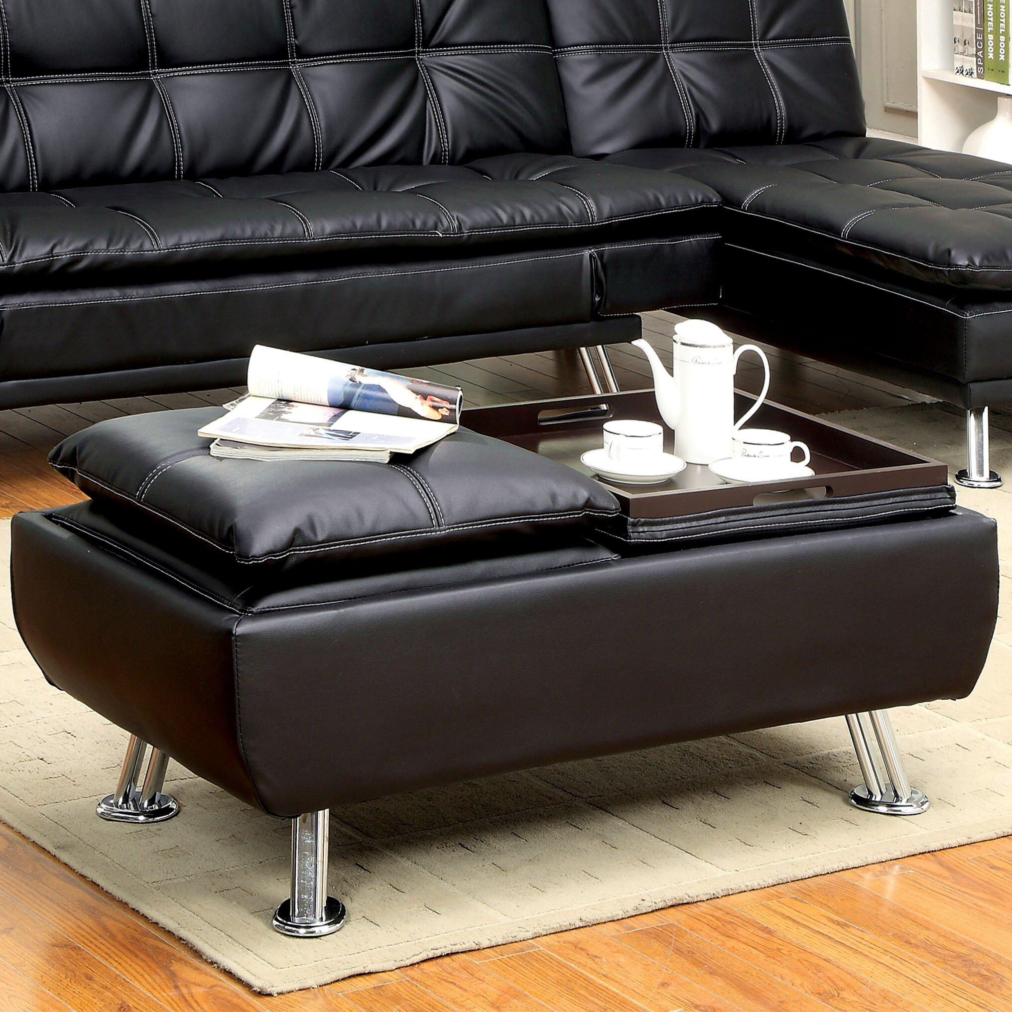 Ottoman With Flip Top Tray Storage Ottoman Boxes With Flip Top Tray For In Front Of The Place