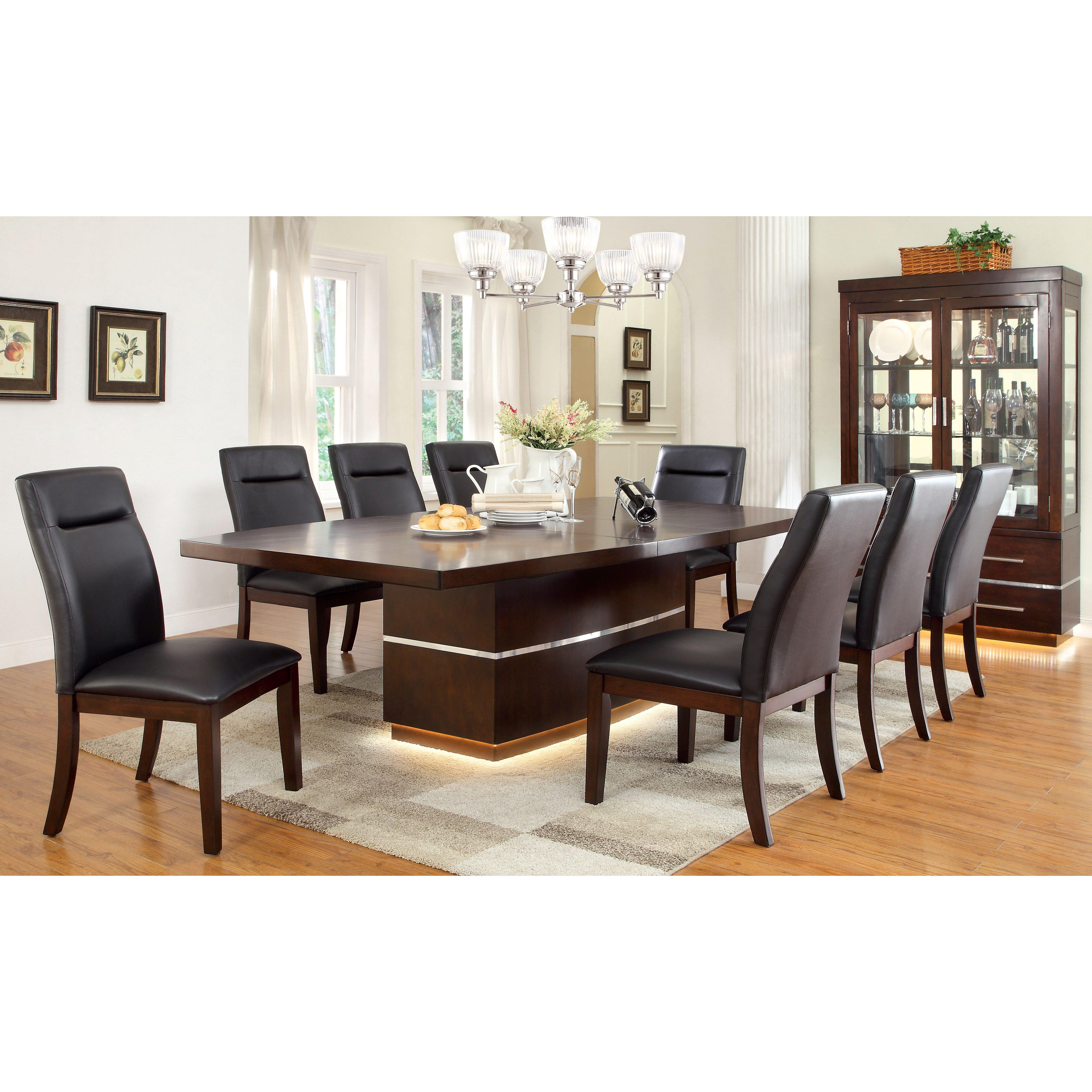 9 piece dining room sets | Hokku Designs Solaare 9 Piece Dining Set & Reviews | Wayfair