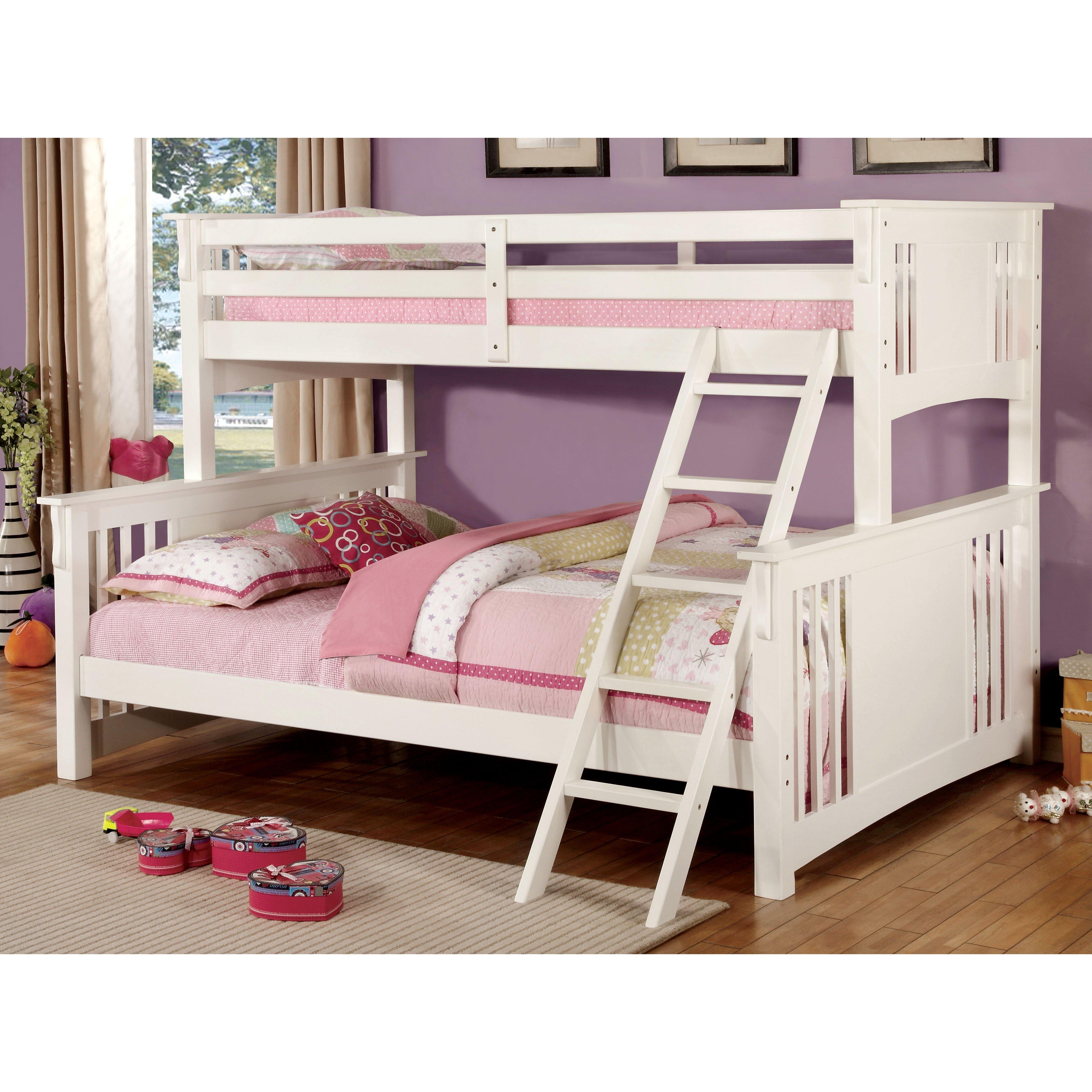 Lakeland mills twin over queen bunk bed amp reviews wayfair - Hokku Designs Spring Twin Over Queen Futon Bunk Bed