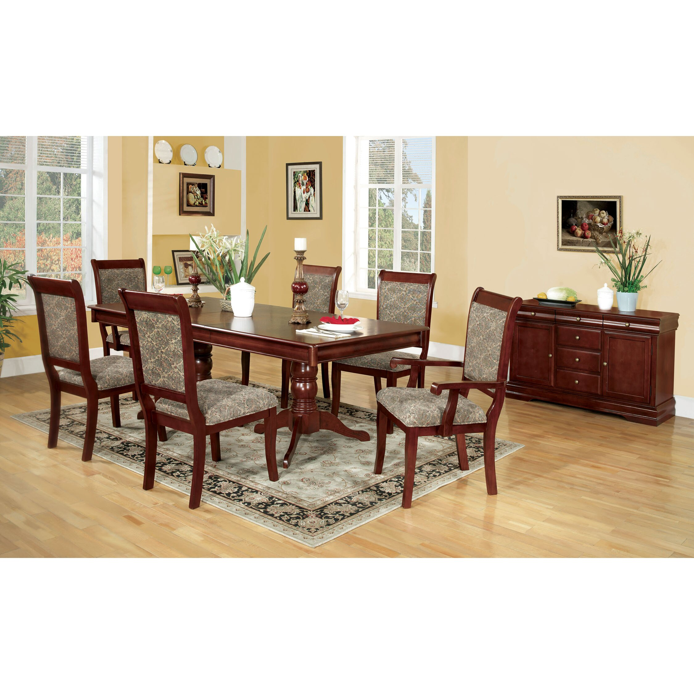 Hokku designs nikolas 7 piece dining set reviews wayfair for Dining set design