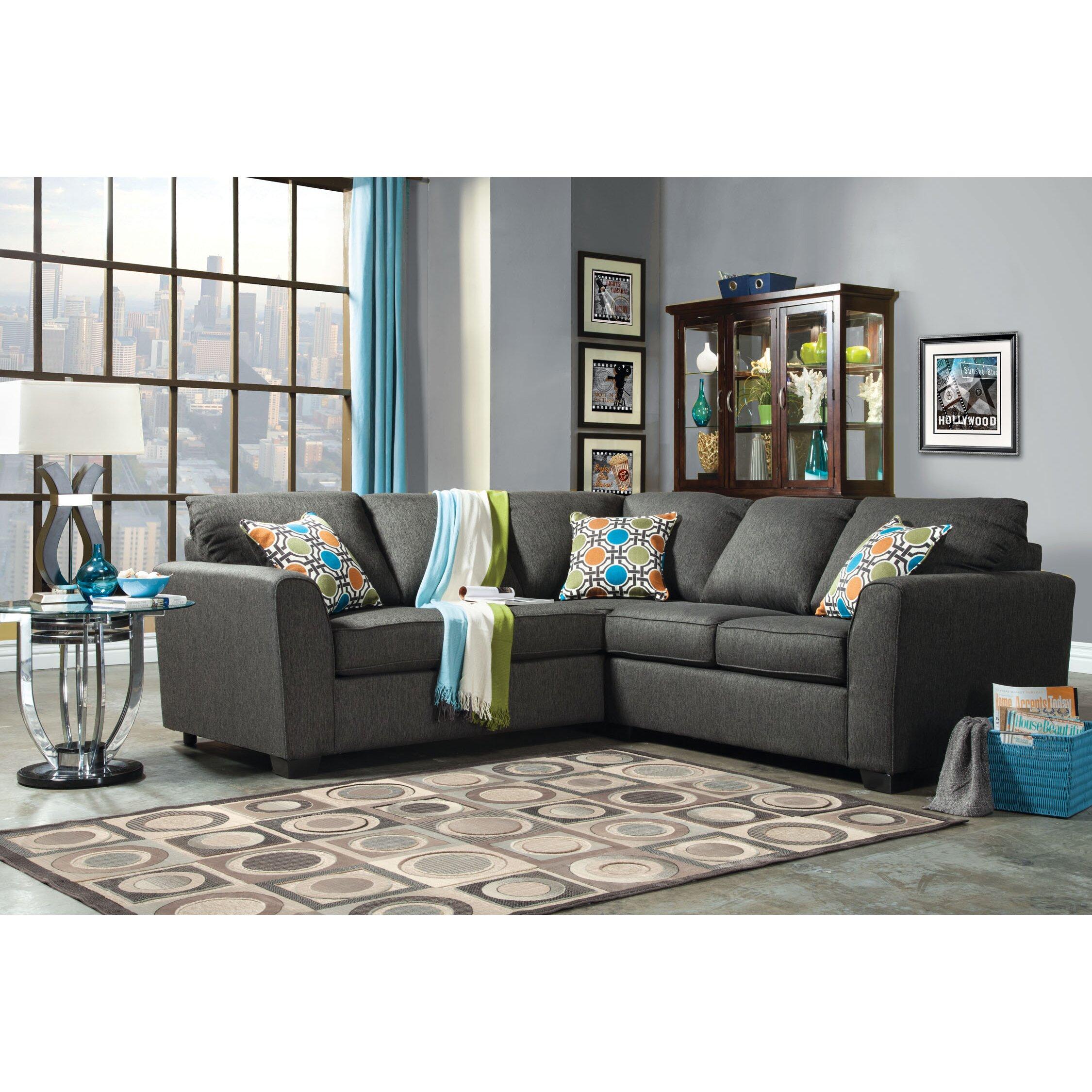 Hokku designs atomic sectional reviews wayfair for Hokku designs living room furniture