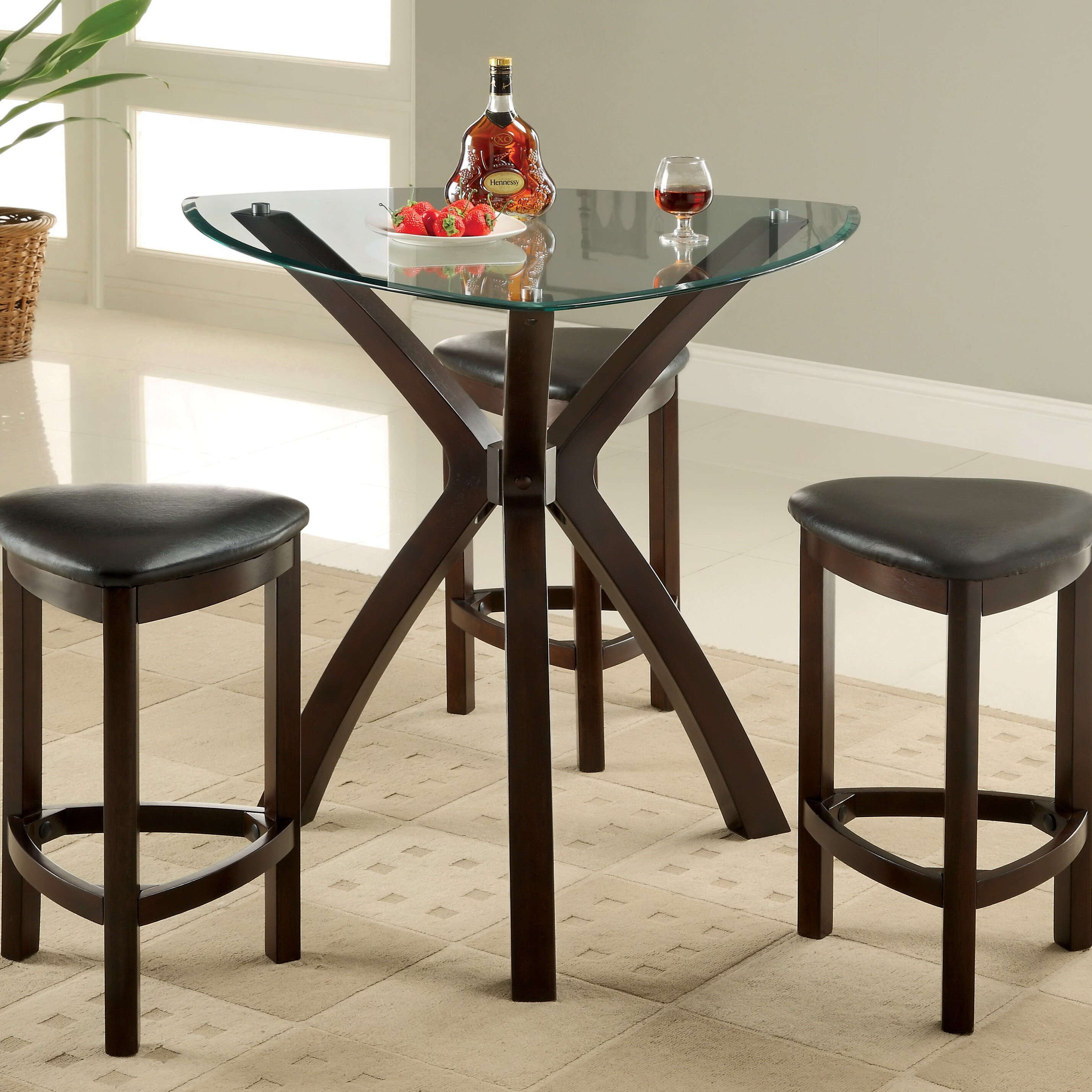 Hokku designs 4 piece counter height dining set reviews for 4 piece kitchen table set