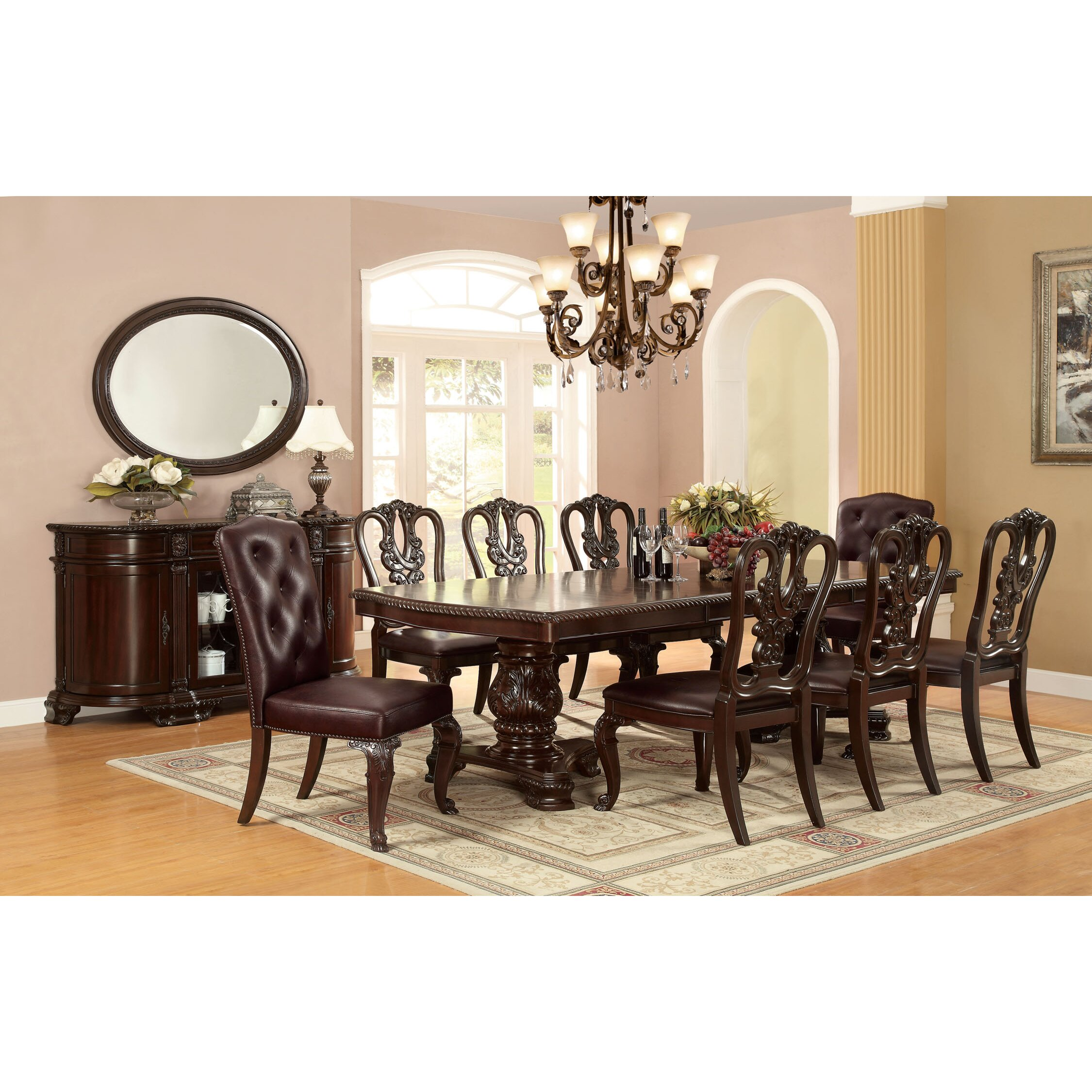 Hokku designs eleanora 9 piece dining set wayfair for Hokku designs dining room furniture