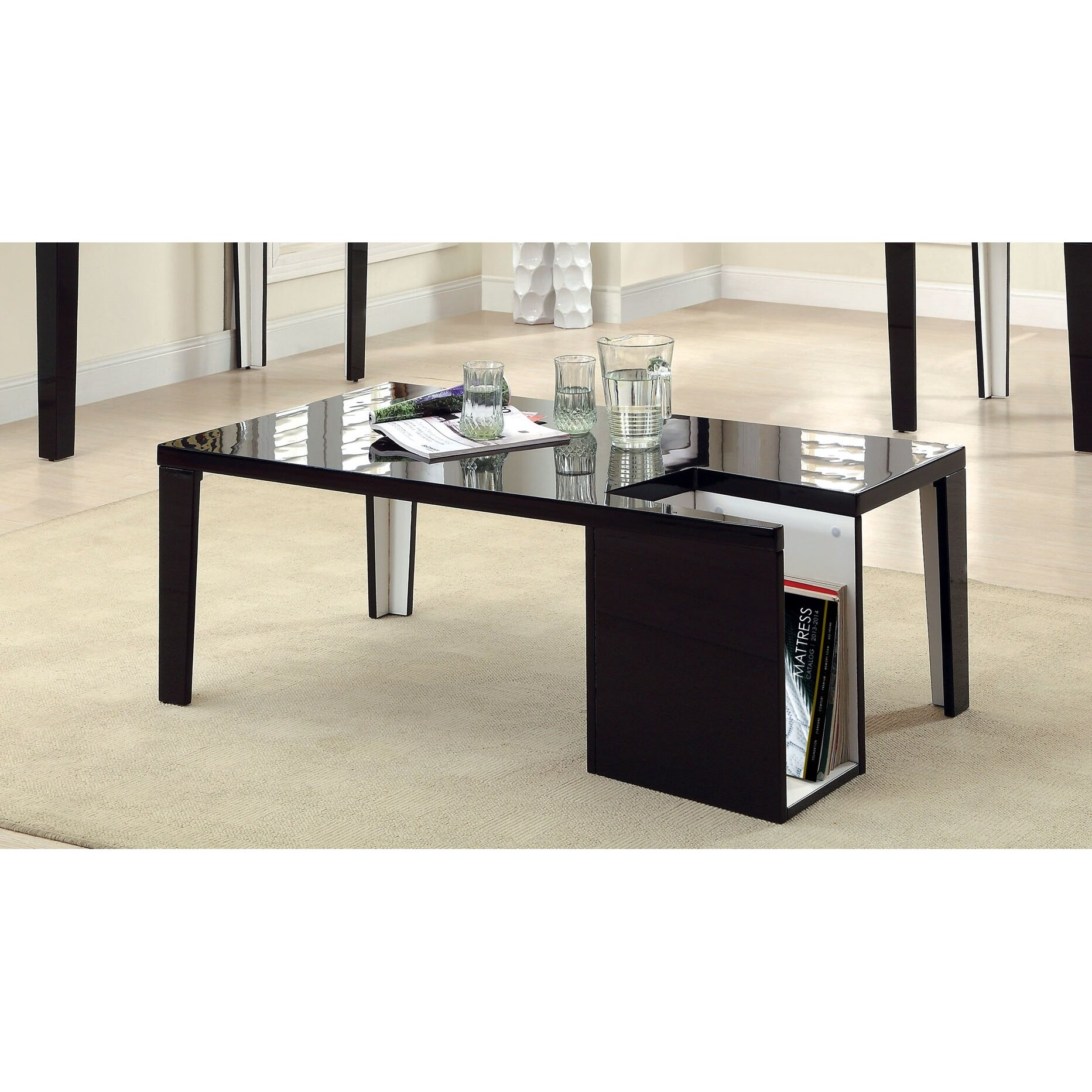 Hokku Designs Zedd Coffee Table With Magazine Rack Reviews Wayfair