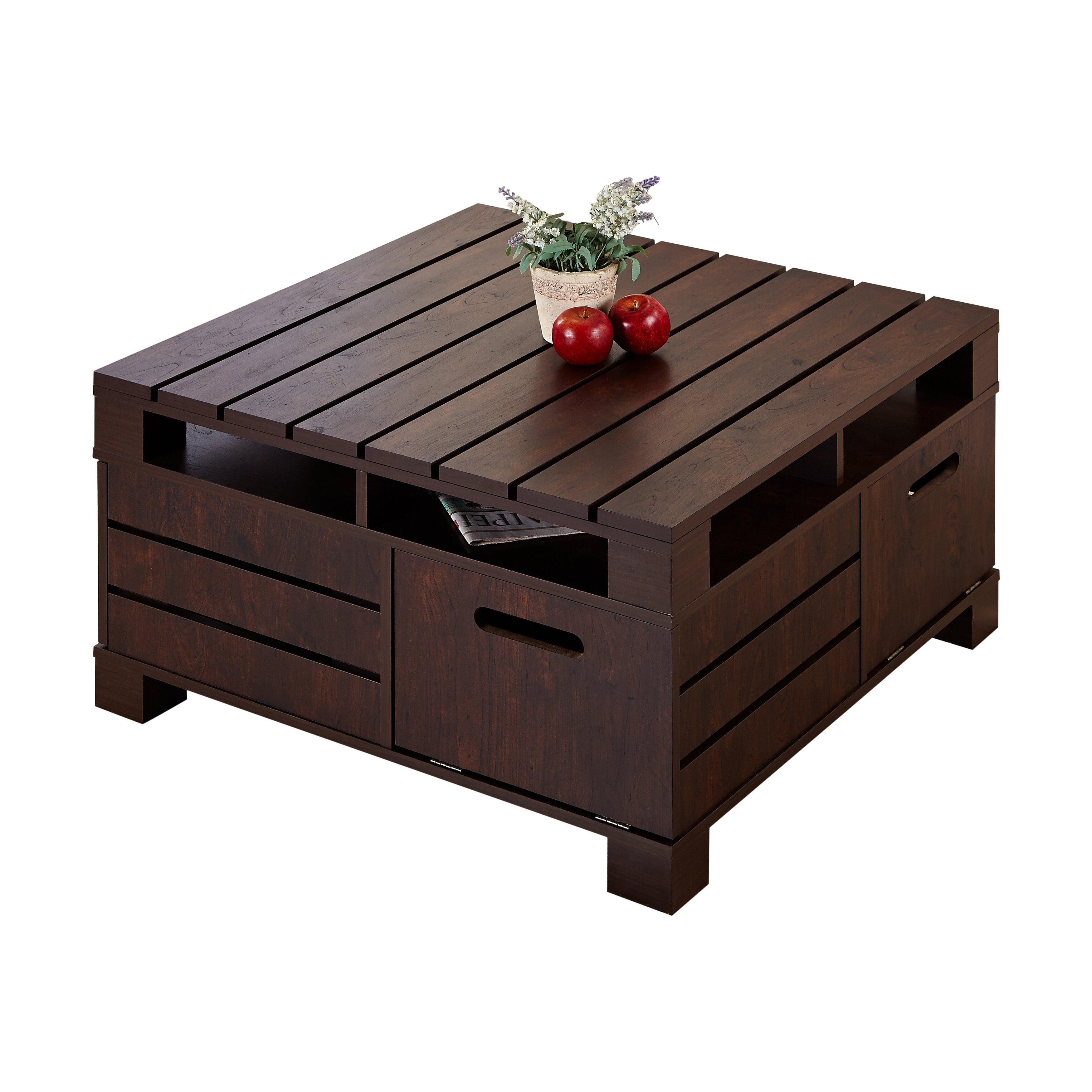 Hokku designs pallet coffee table reviews wayfairca for Wayfair outdoor coffee table