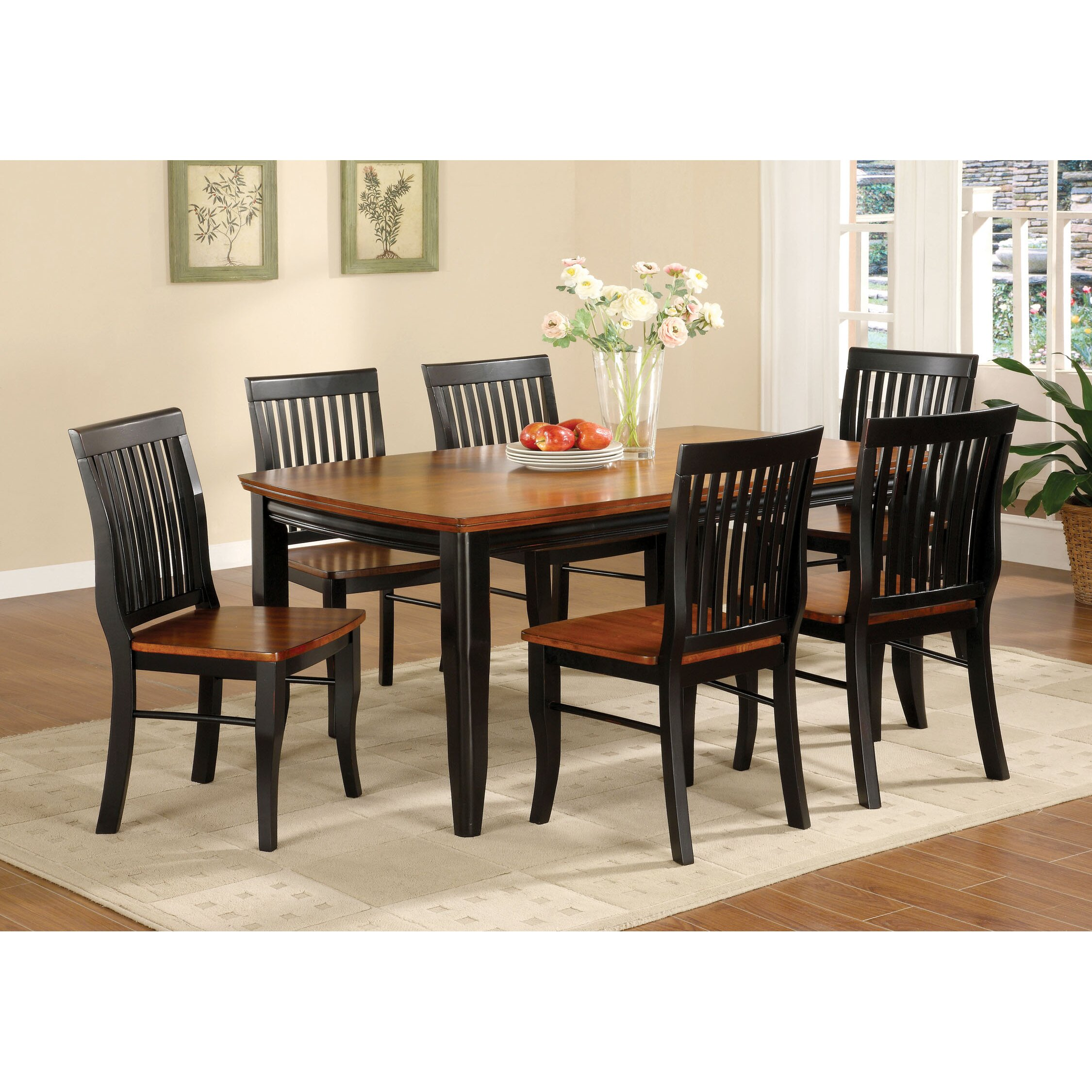 Black Dining Room Table And Chairs: Hokku Designs Pedrina 7 Piece Dining Set & Reviews