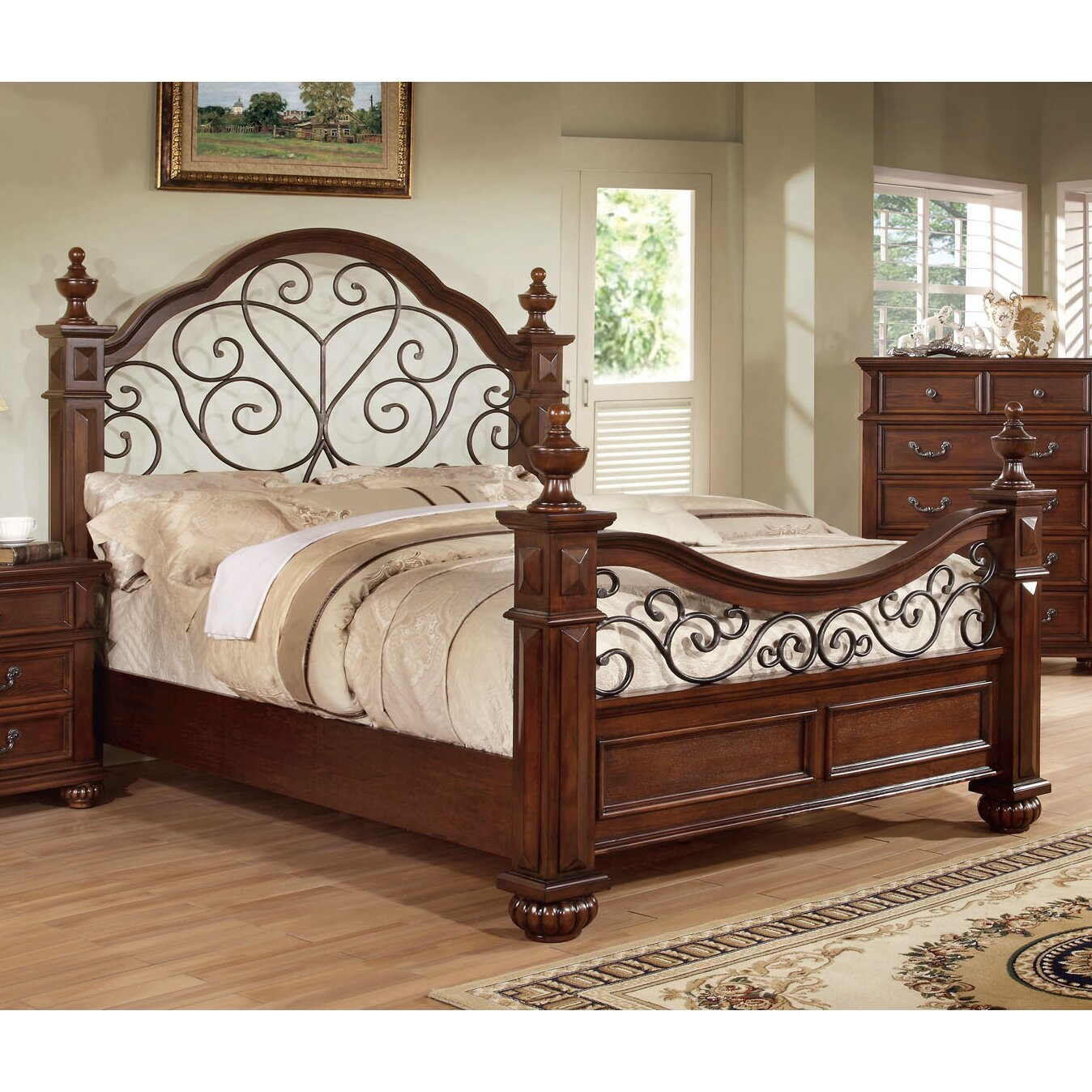 Hokku designs lorrenzia platform bed reviews wayfair for Bedroom designs with four poster beds
