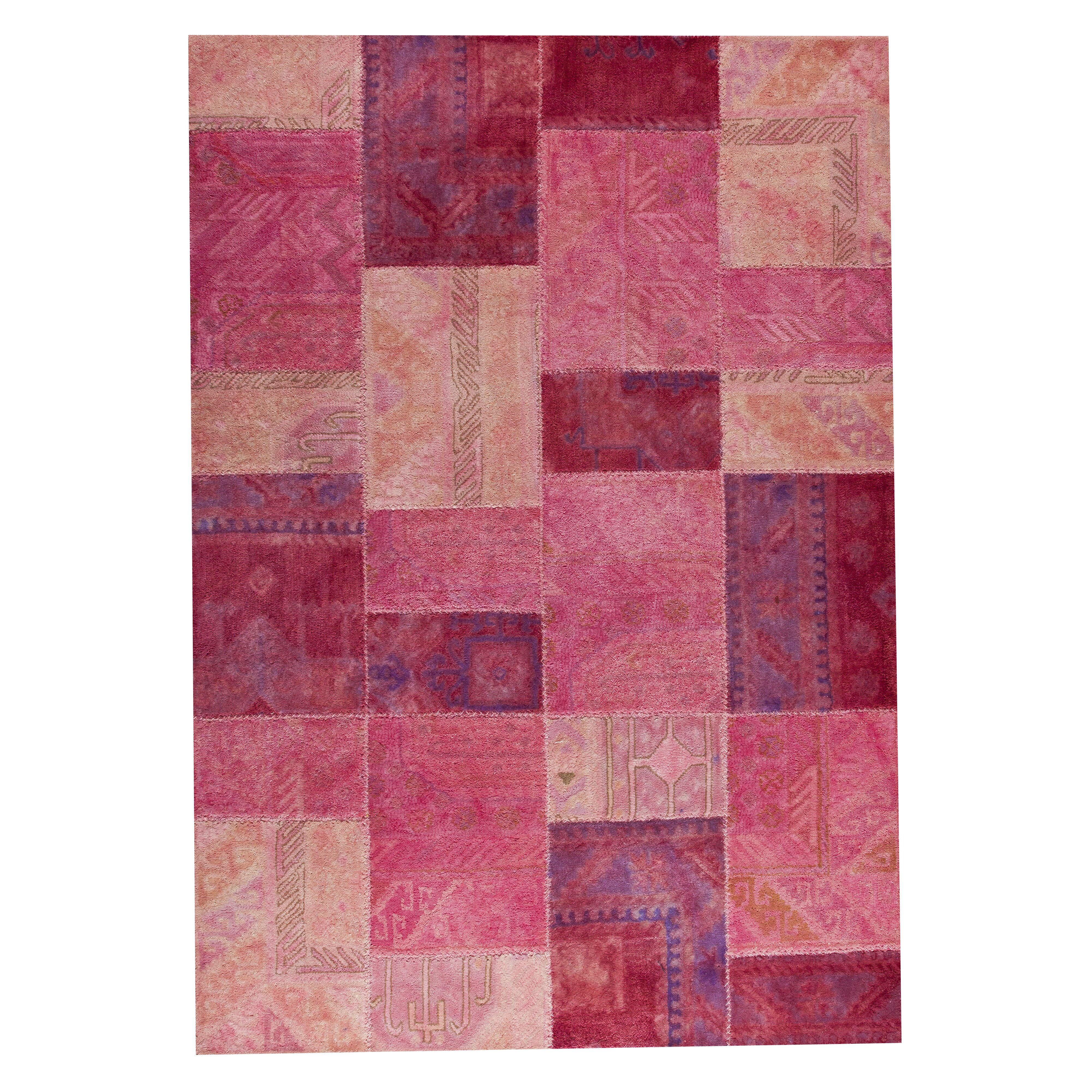 Hokku Designs Satinath Light Pink Area Rug