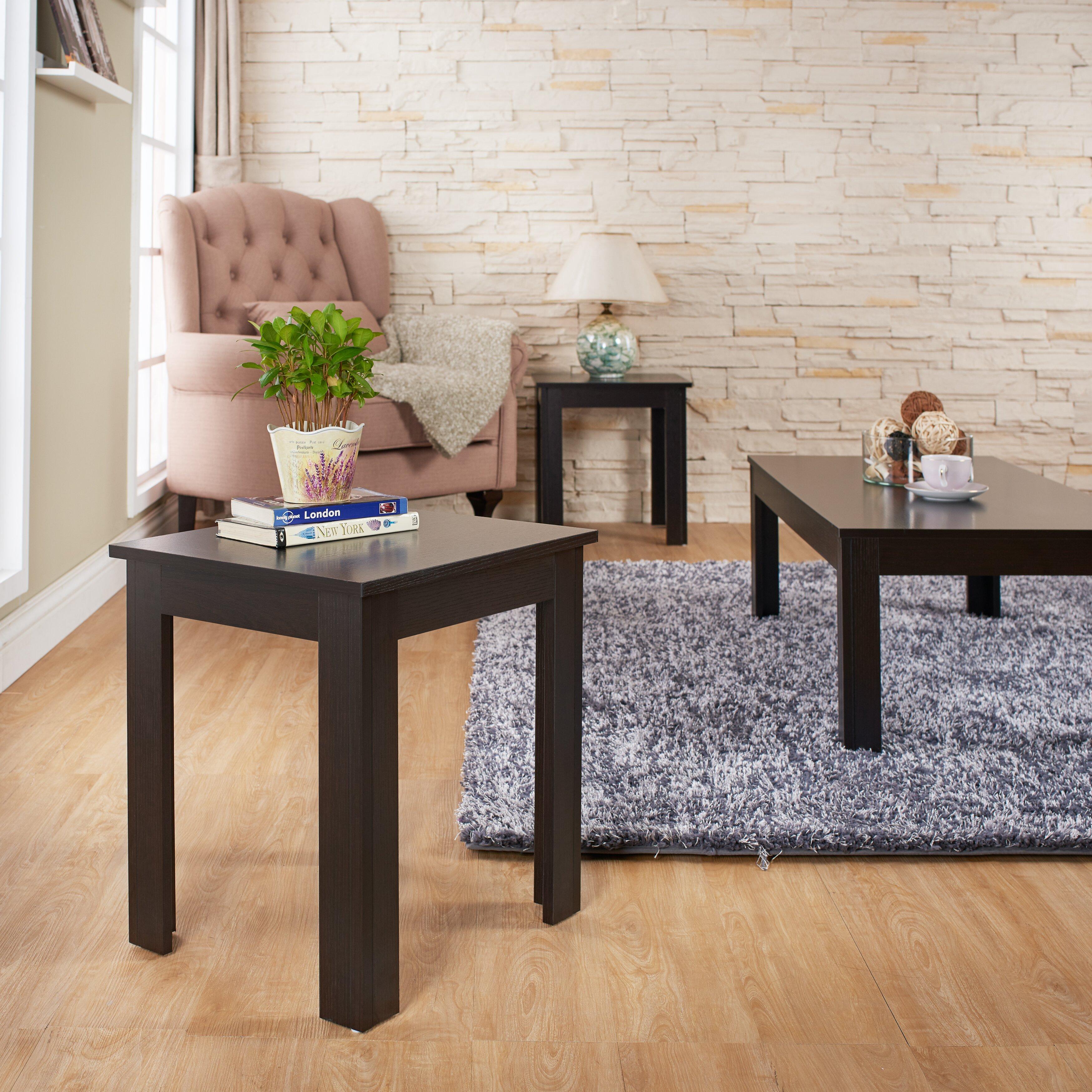 Hokku Designs Upton 3 Piece Coffee Table Set Reviews Wayfair