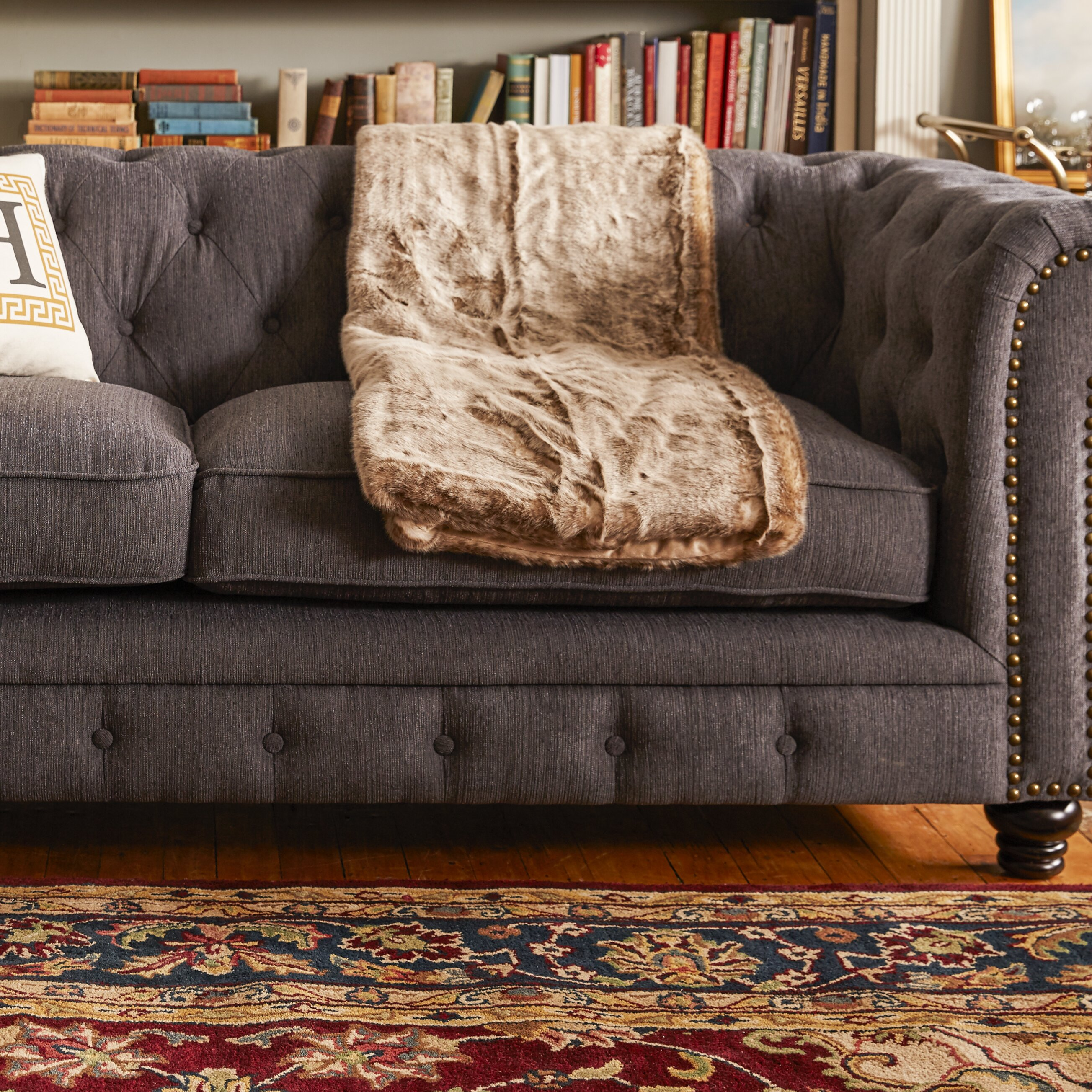 "Hokku Designs Cedric 90"" Chesterfield Sofa& Reviews Wayfair"