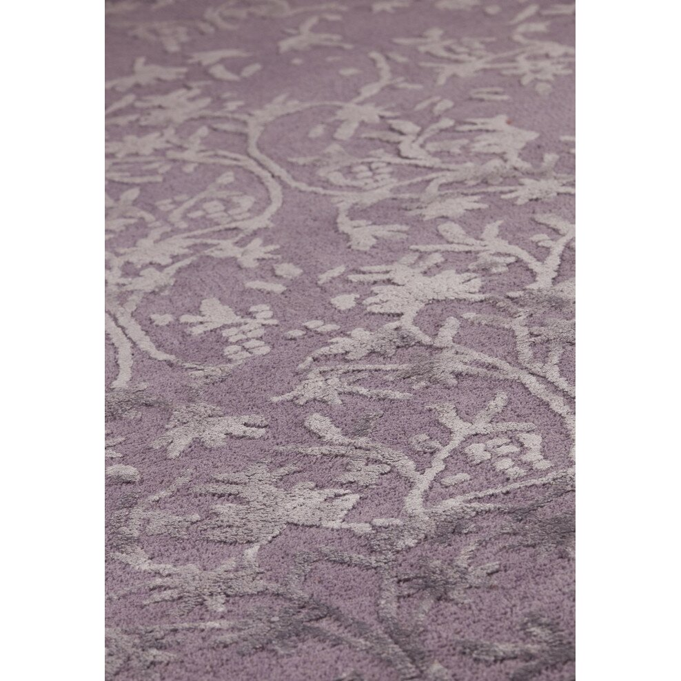 Xl Purple Rug: Hokku Designs Santoor Hand-Tufted Purple Area Rug