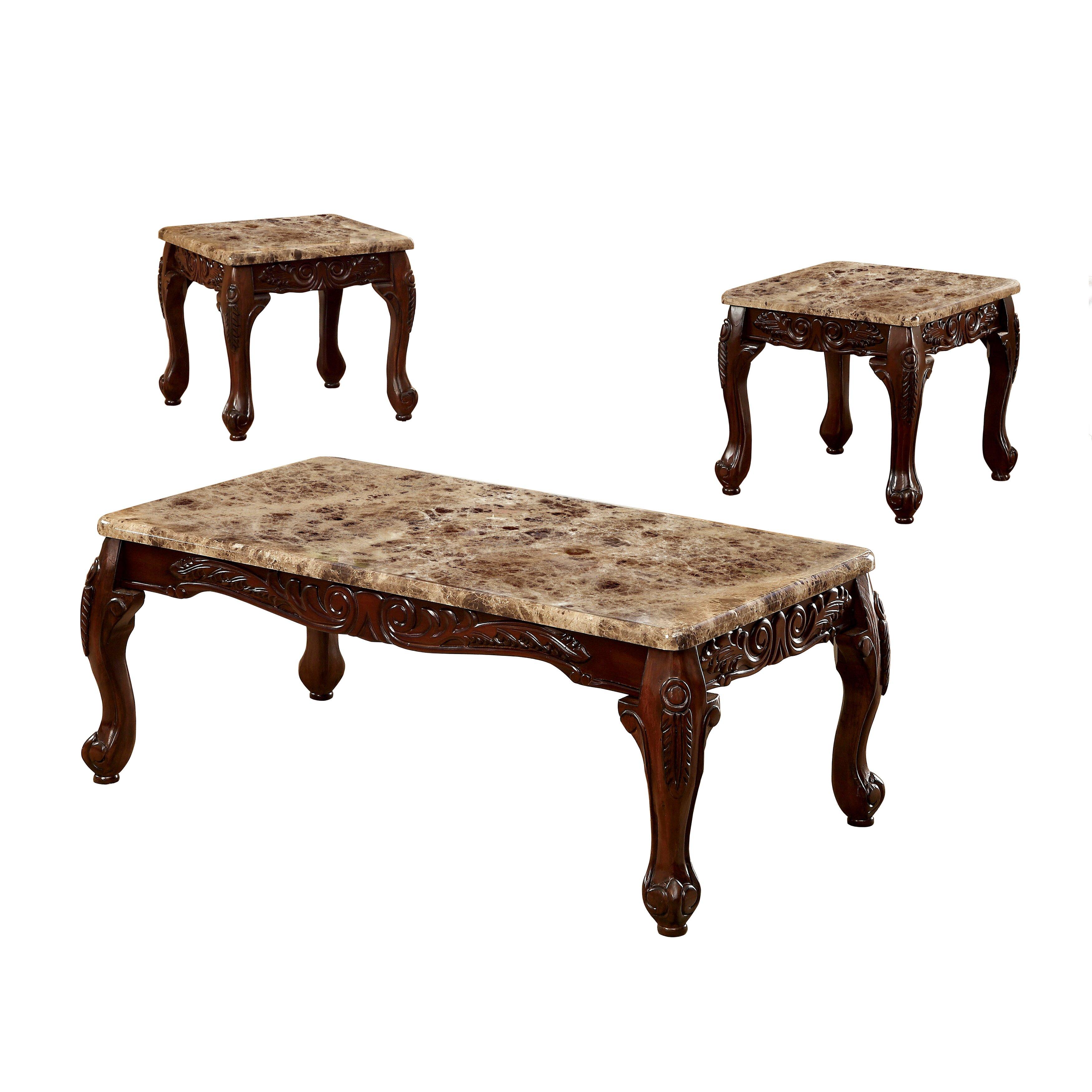 Hokku designs kalline 3 piece coffee table set reviews for Coffee tables 3 piece
