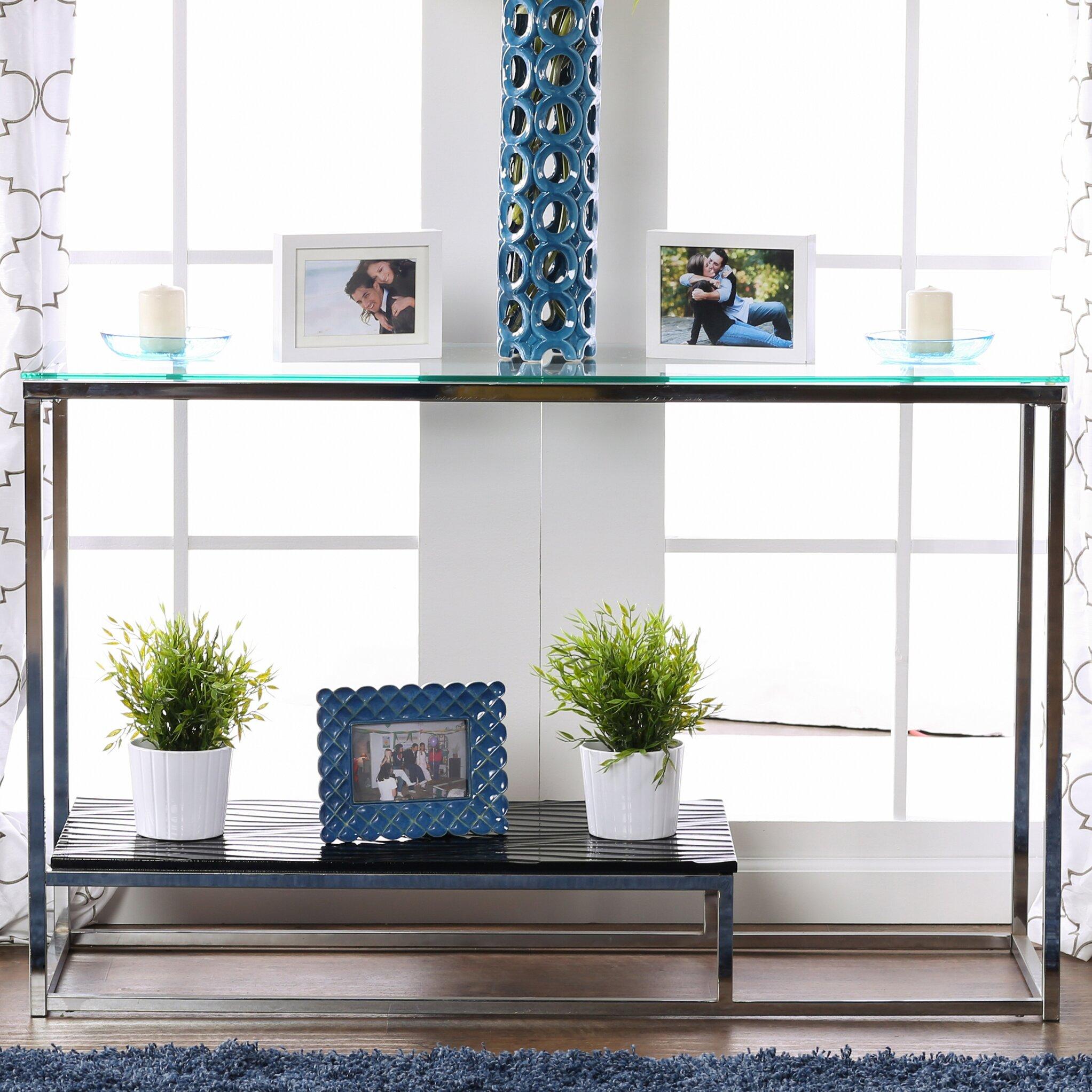 Hokku designs estrava console table reviews wayfair for Hokku designs living room furniture