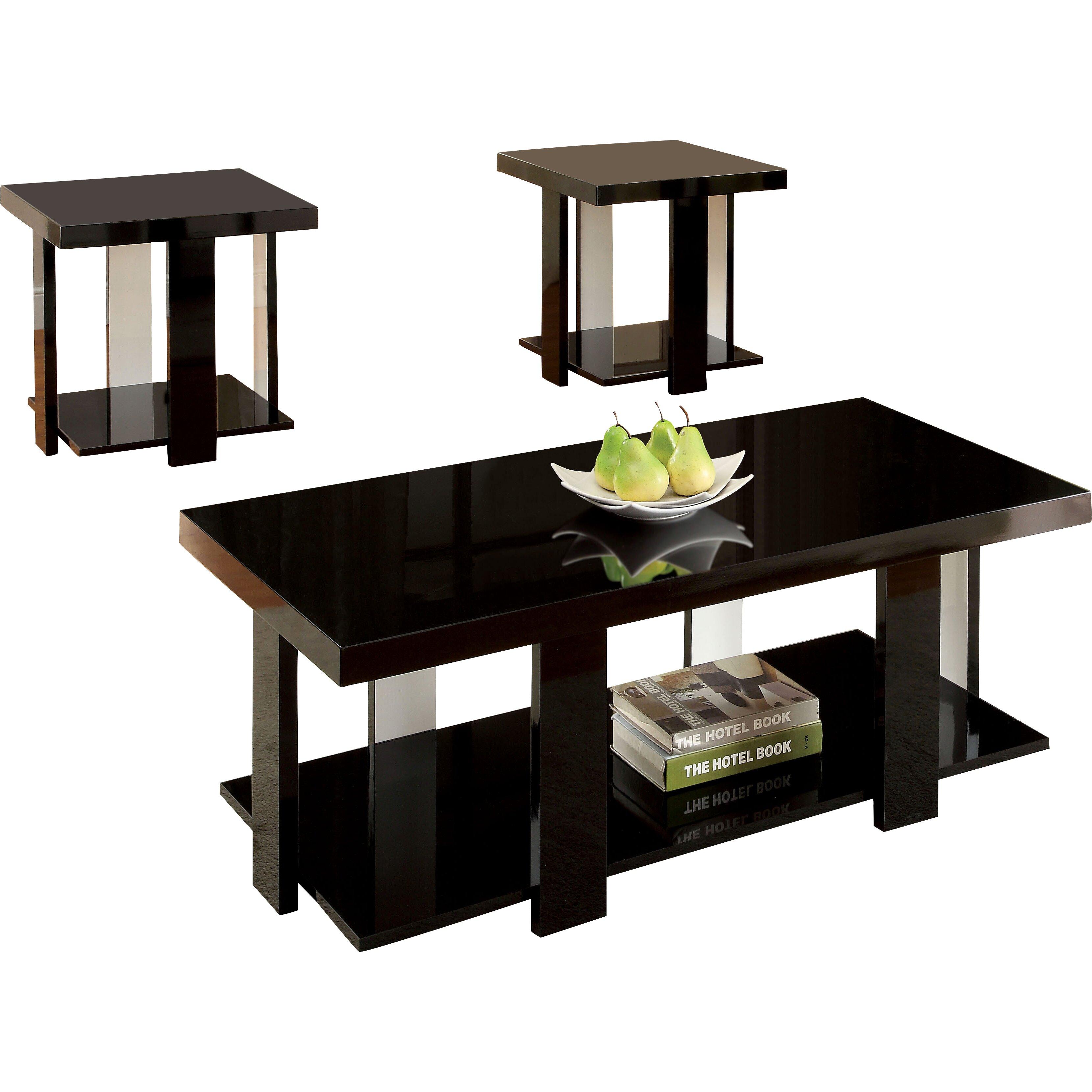 Hokku Designs Eran 3 Piece Coffee Table Set Reviews Wayfair