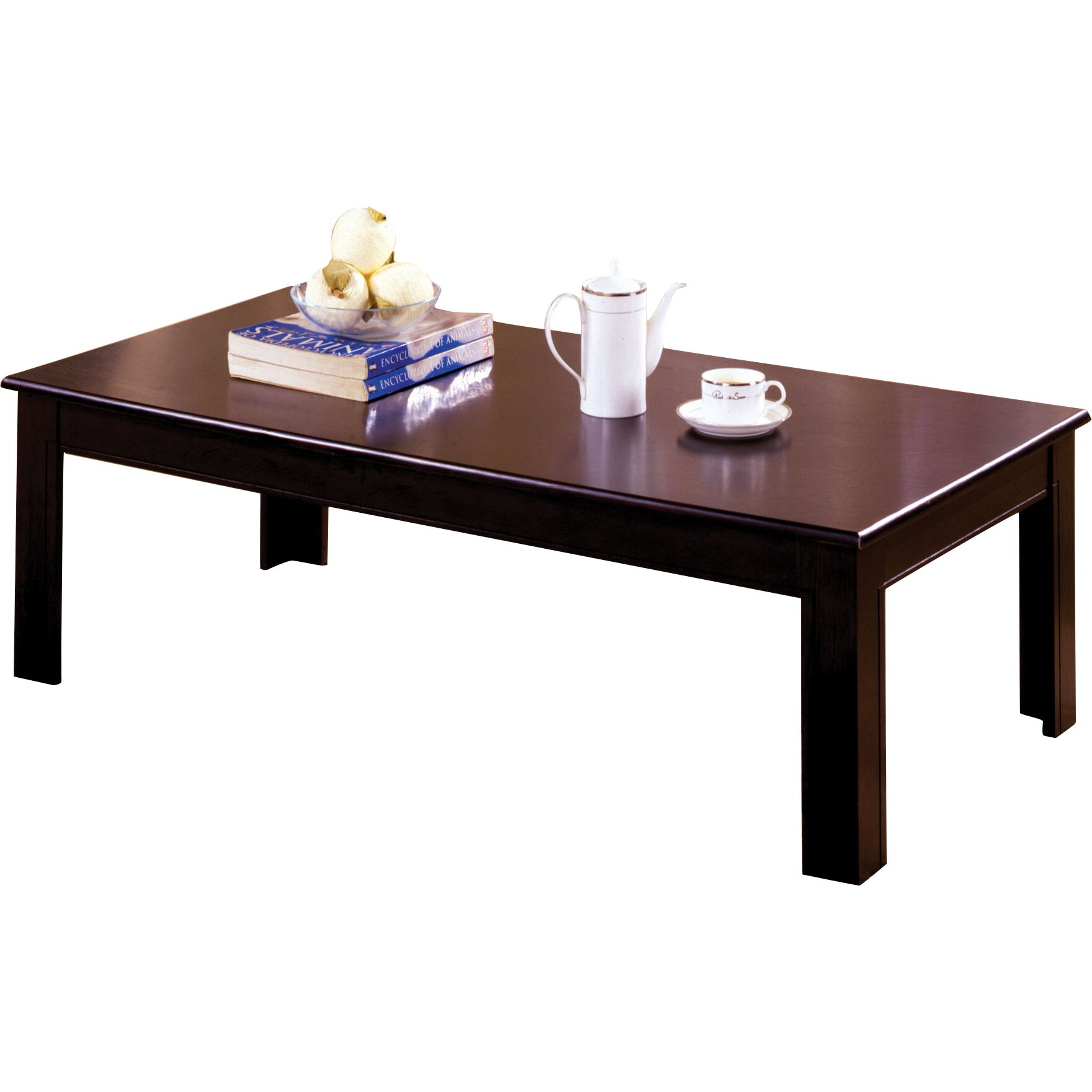 Hokku designs frixe 3 piece coffee table set reviews wayfair One piece glass coffee table