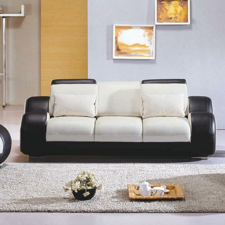 Hokku Designs Hematite Leather Living Room Collection Reviews