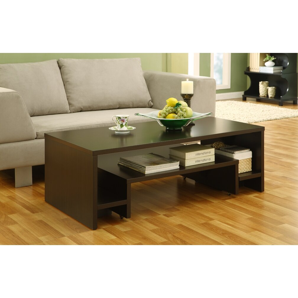 hokku designs paige coffee table reviews wayfair. Black Bedroom Furniture Sets. Home Design Ideas