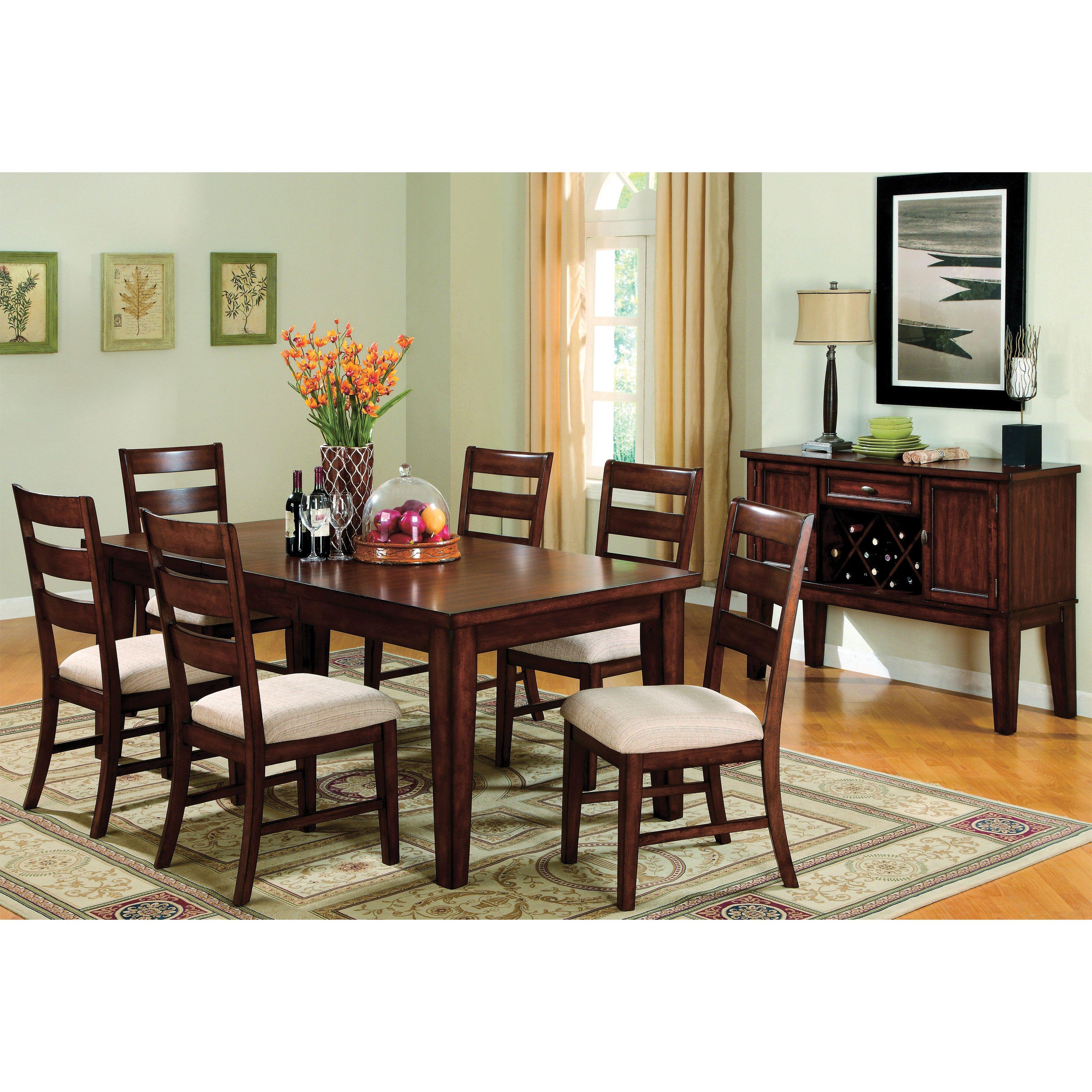 Hokku designs pristine 7 piece dining set reviews wayfair for Furniture 7 credit reviews