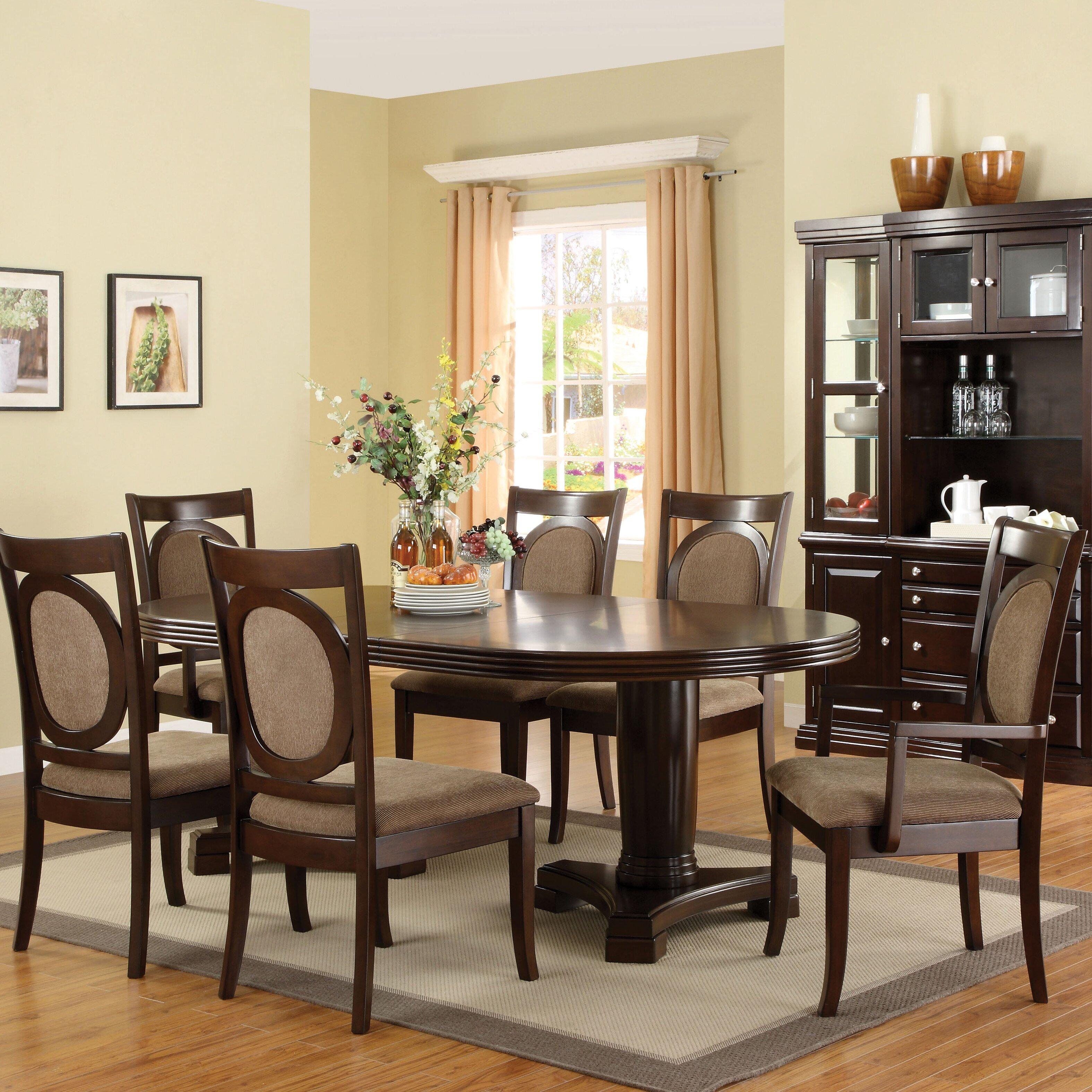 Hokku designs regan 7 piece dining set reviews wayfair for Hokku designs dining room furniture