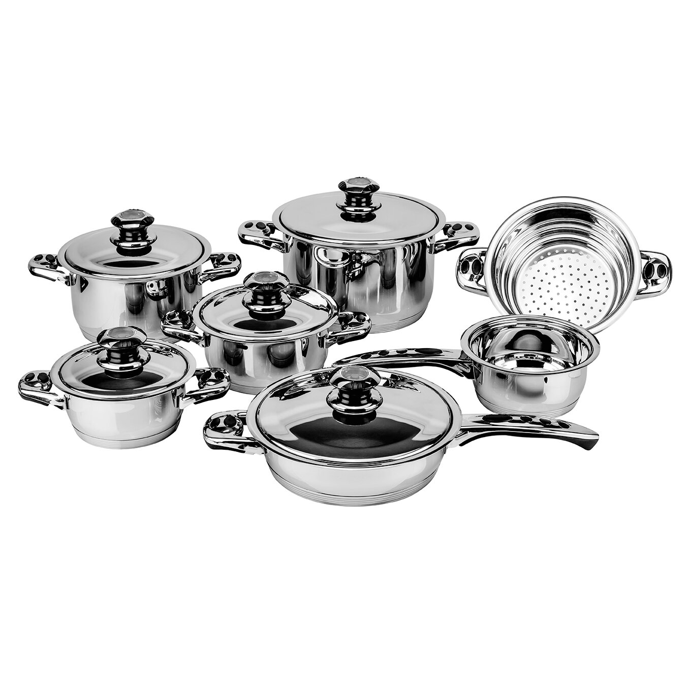 Magefesa Ecotherm Stainless Steel 12 Piece Cookware Set