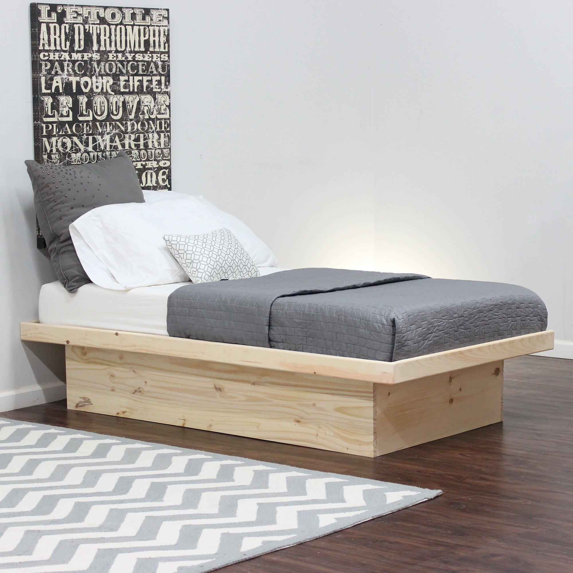 furniture platform bed reviews wayfair