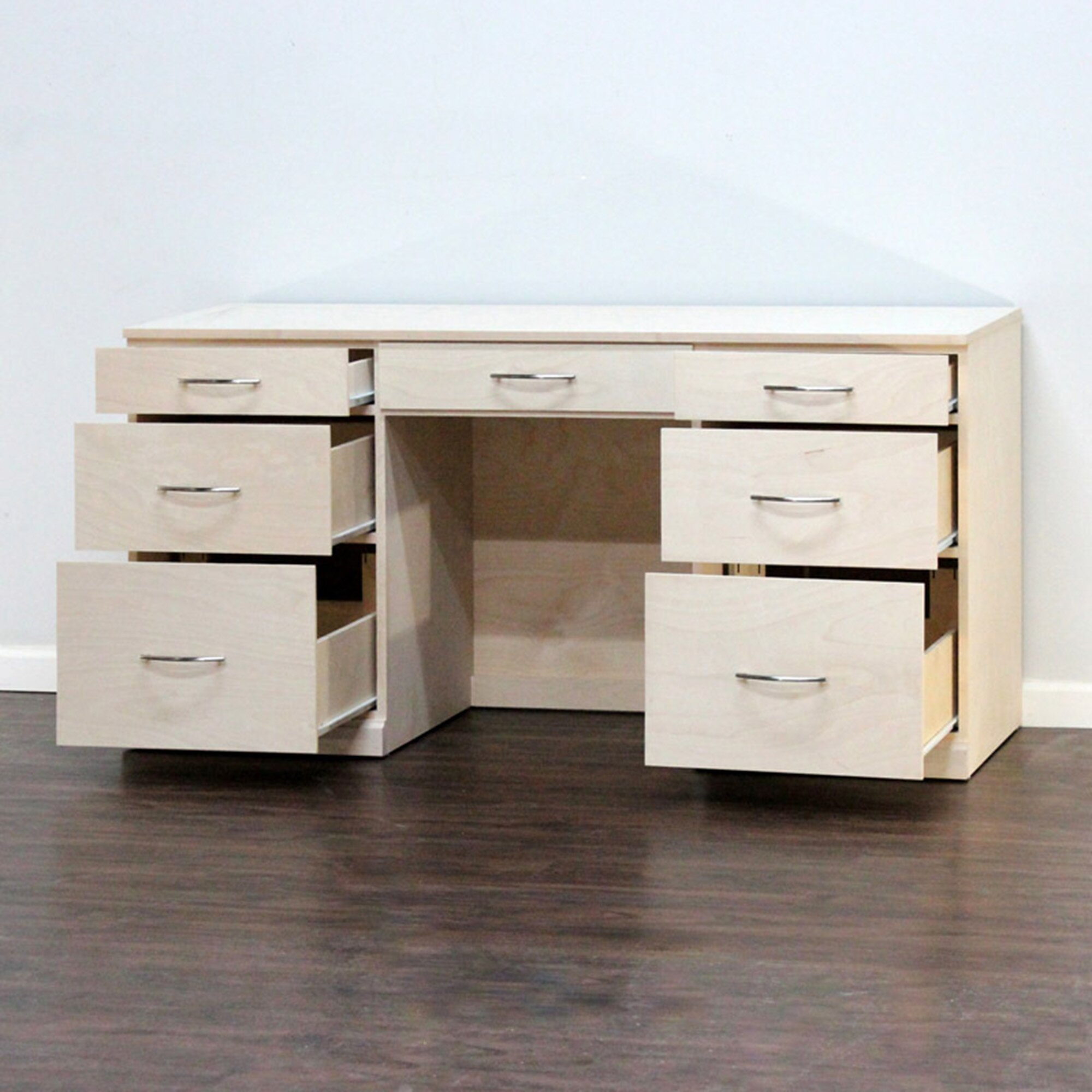 Gothic furniture flat iron computer desk with keyboard for Flat furniture