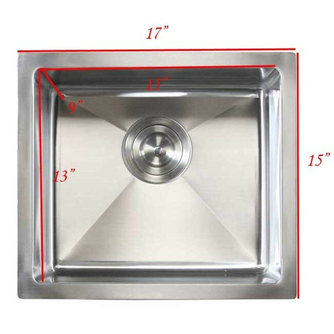 Emodern decor ariel 17 x 15 single bowl undermount for Emodern decor