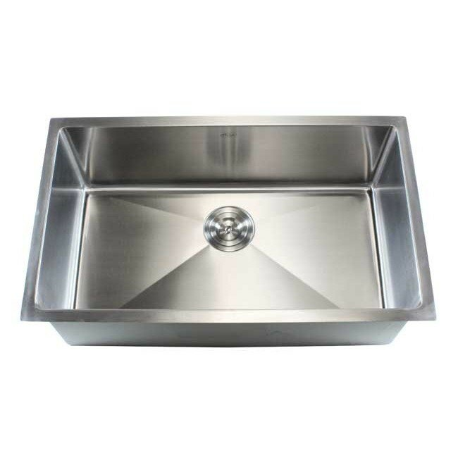 Emodern decor ariel 30 x 18 single bowl undermount for Emodern decor
